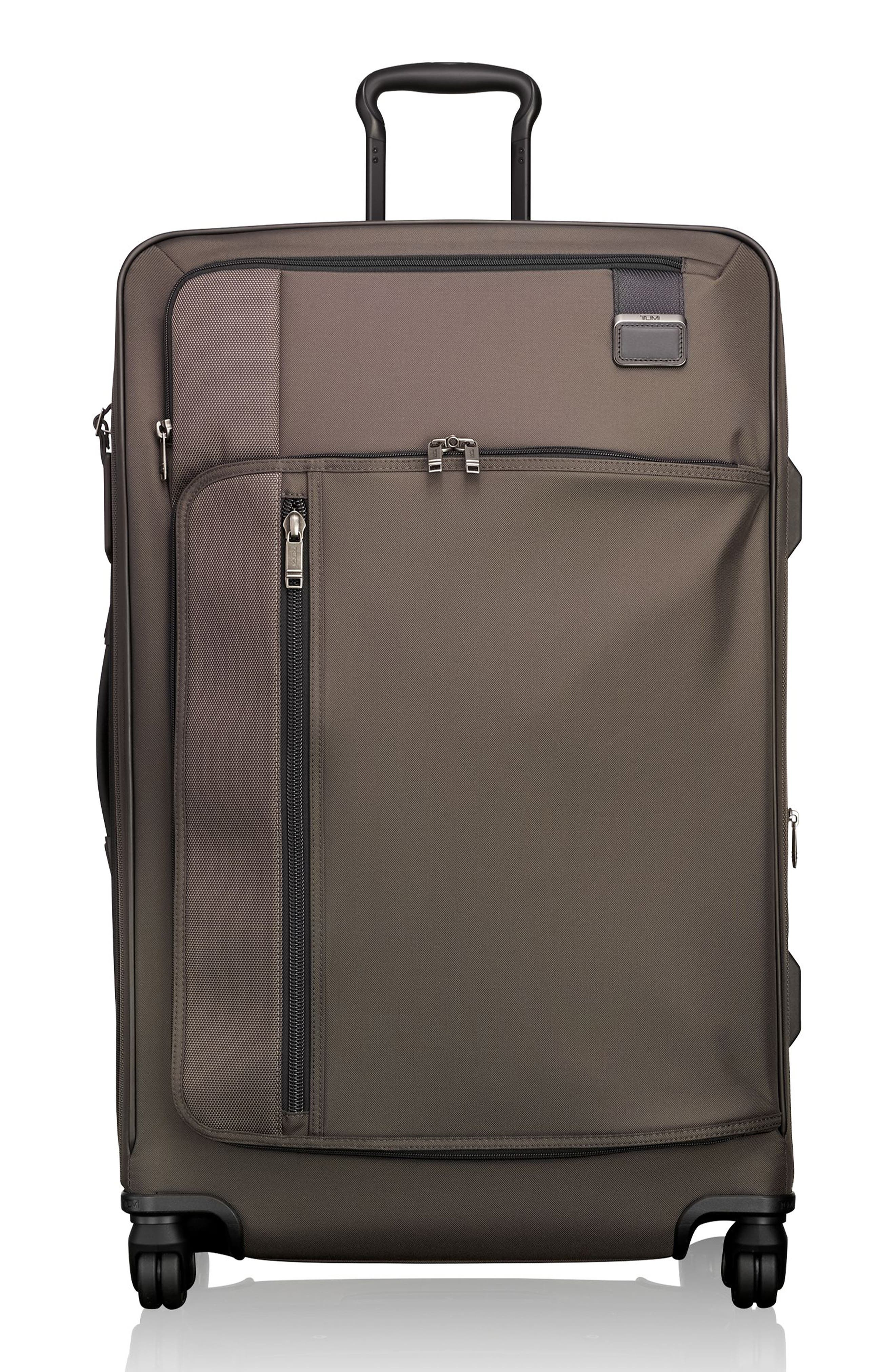 Merge - Extended Trip Expandable Rolling Luggage,                         Main,                         color, Coffee
