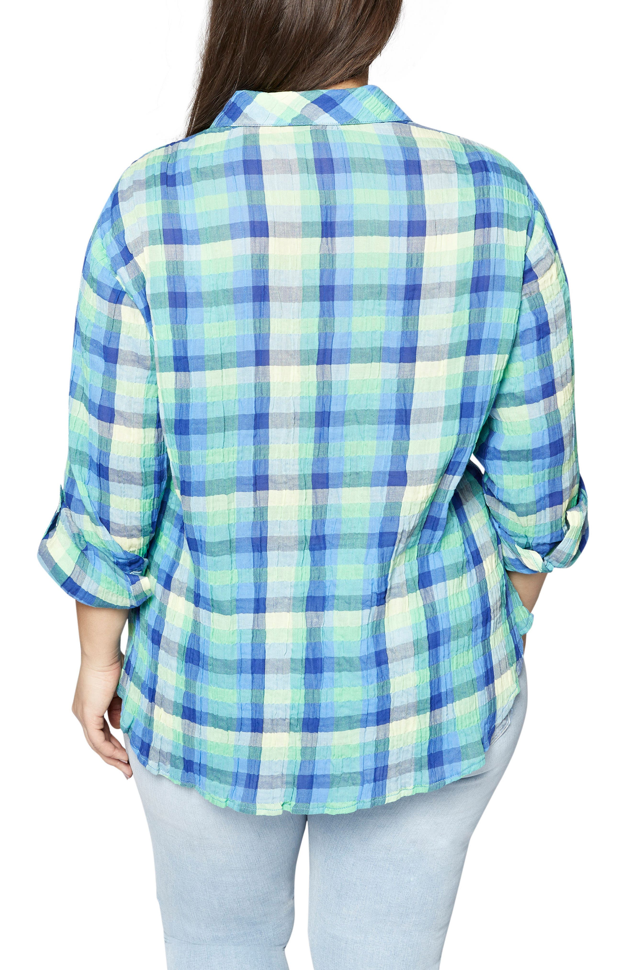 The Steady Boyfriend Plaid Shirt,                             Alternate thumbnail 2, color,                             Spring Renewal