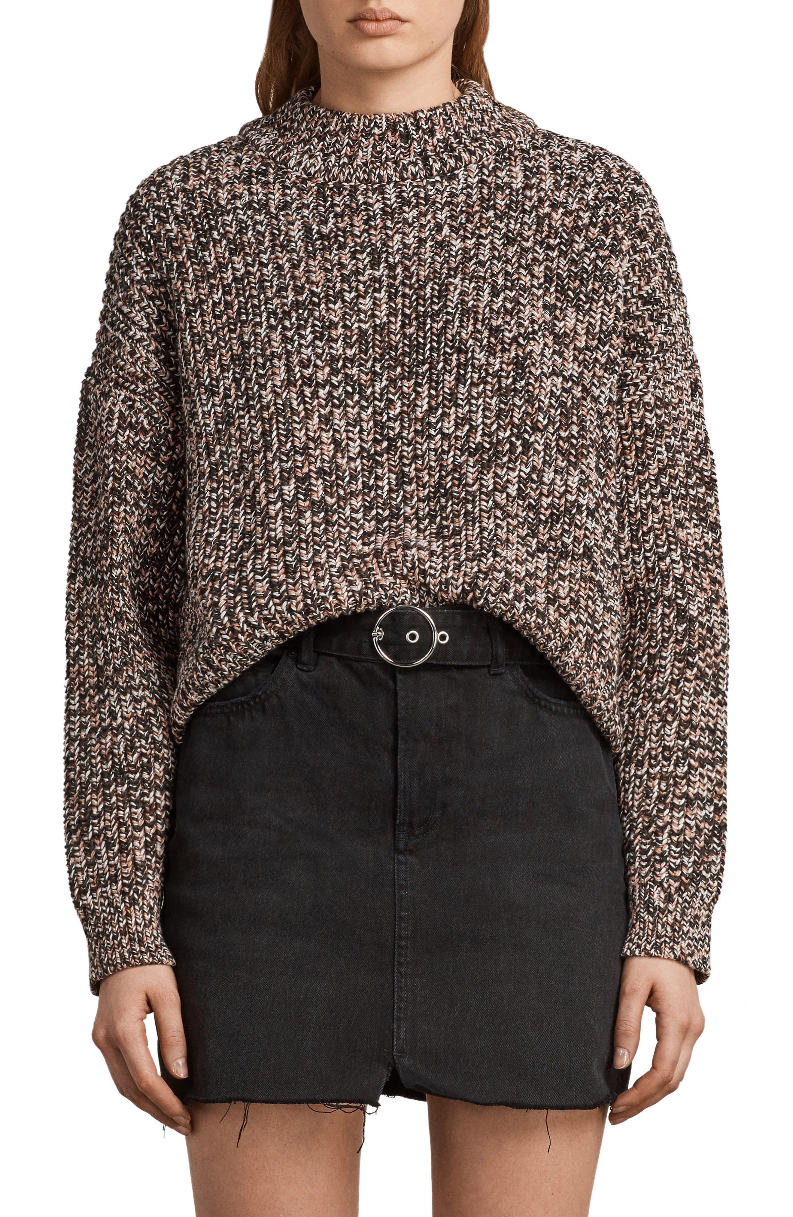 Malu Knit Sweater,                             Main thumbnail 1, color,                             Pink Mix