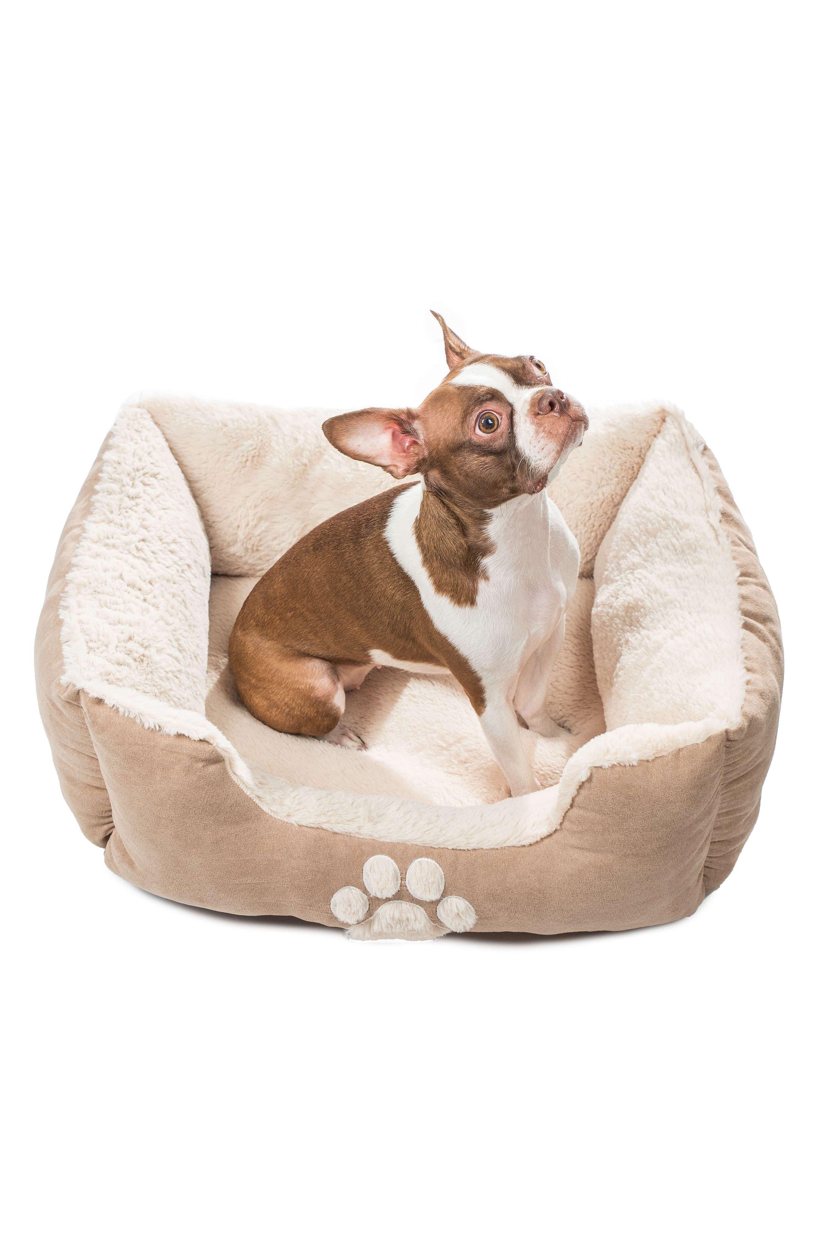 Roxi Square Pet Bed,                             Alternate thumbnail 2, color,                             Taupe