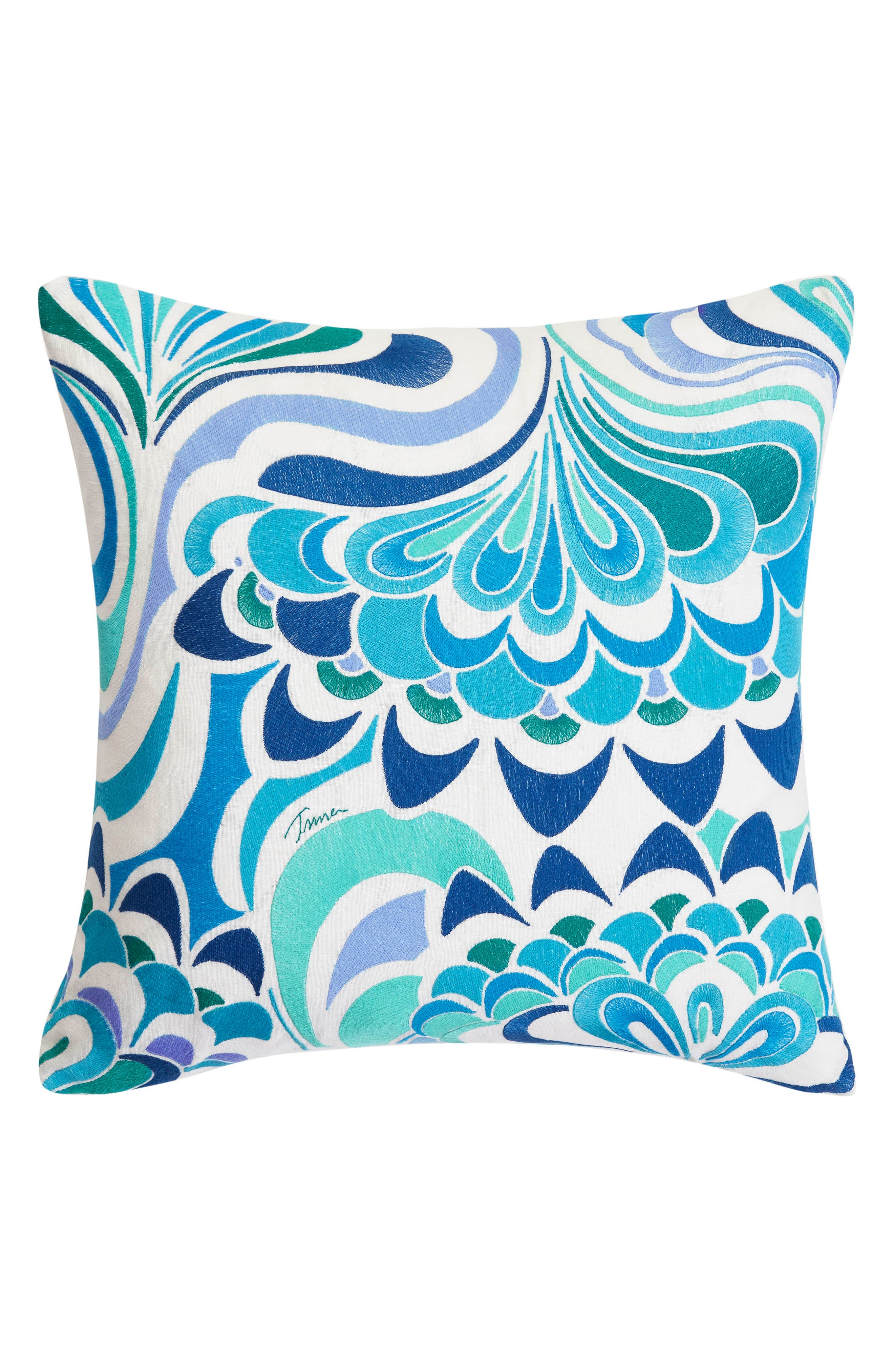 Avalon Lotus Accent Pillow,                         Main,                         color, Turquoise