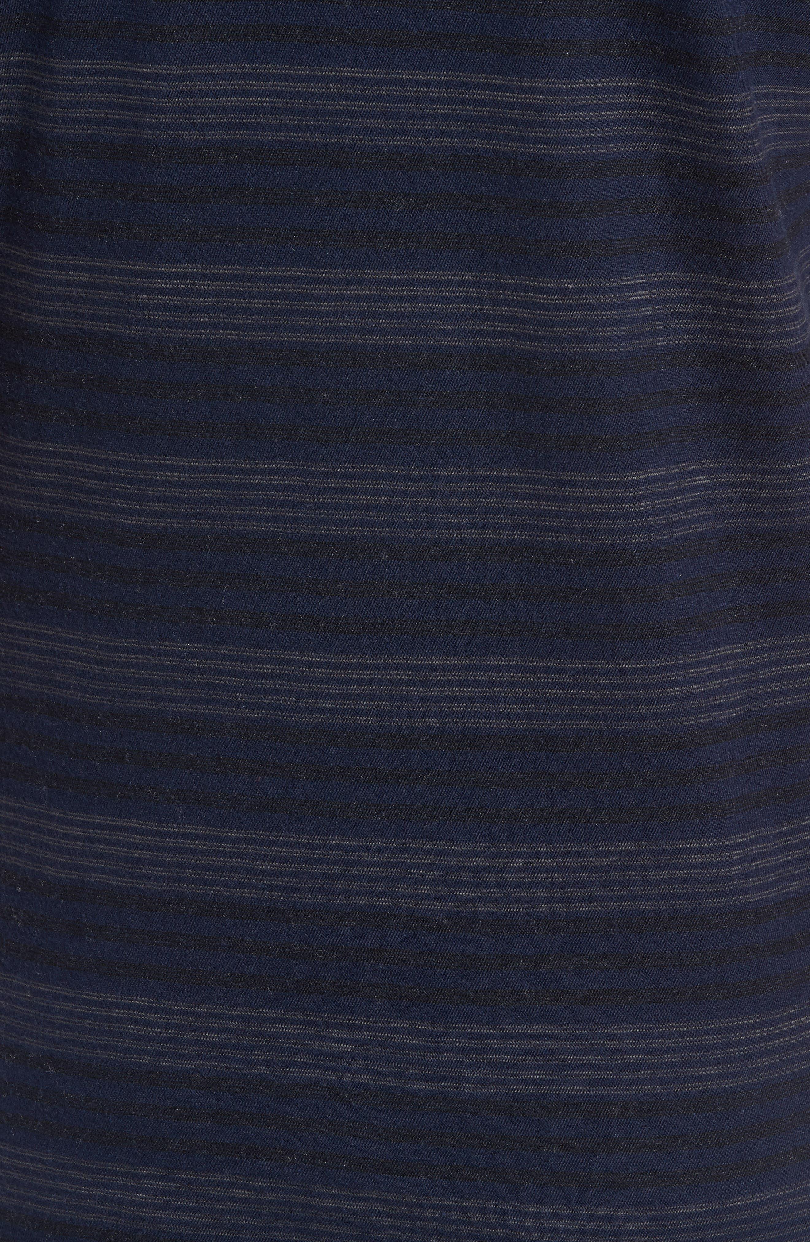 Stripe Cotton & Cashmere Polo Shirt,                             Alternate thumbnail 5, color,                             Navy