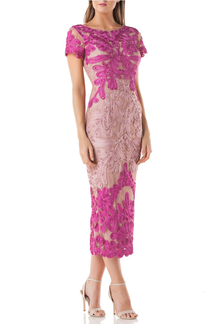 Js collections soutache lace midi dress nordstrom for Macy black dress wear to wedding