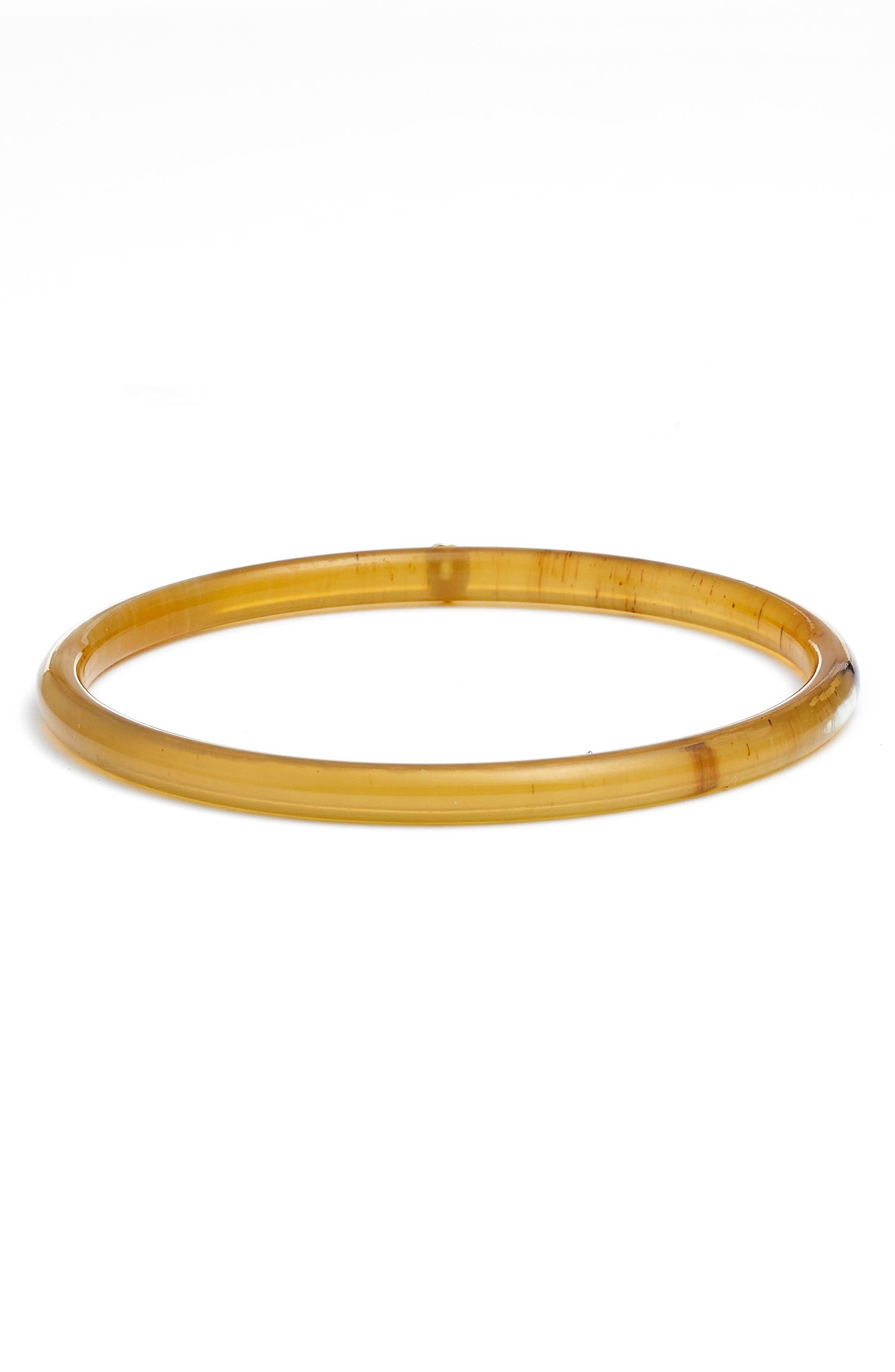 Brown Horn Bangle,                             Main thumbnail 1, color,                             Gold