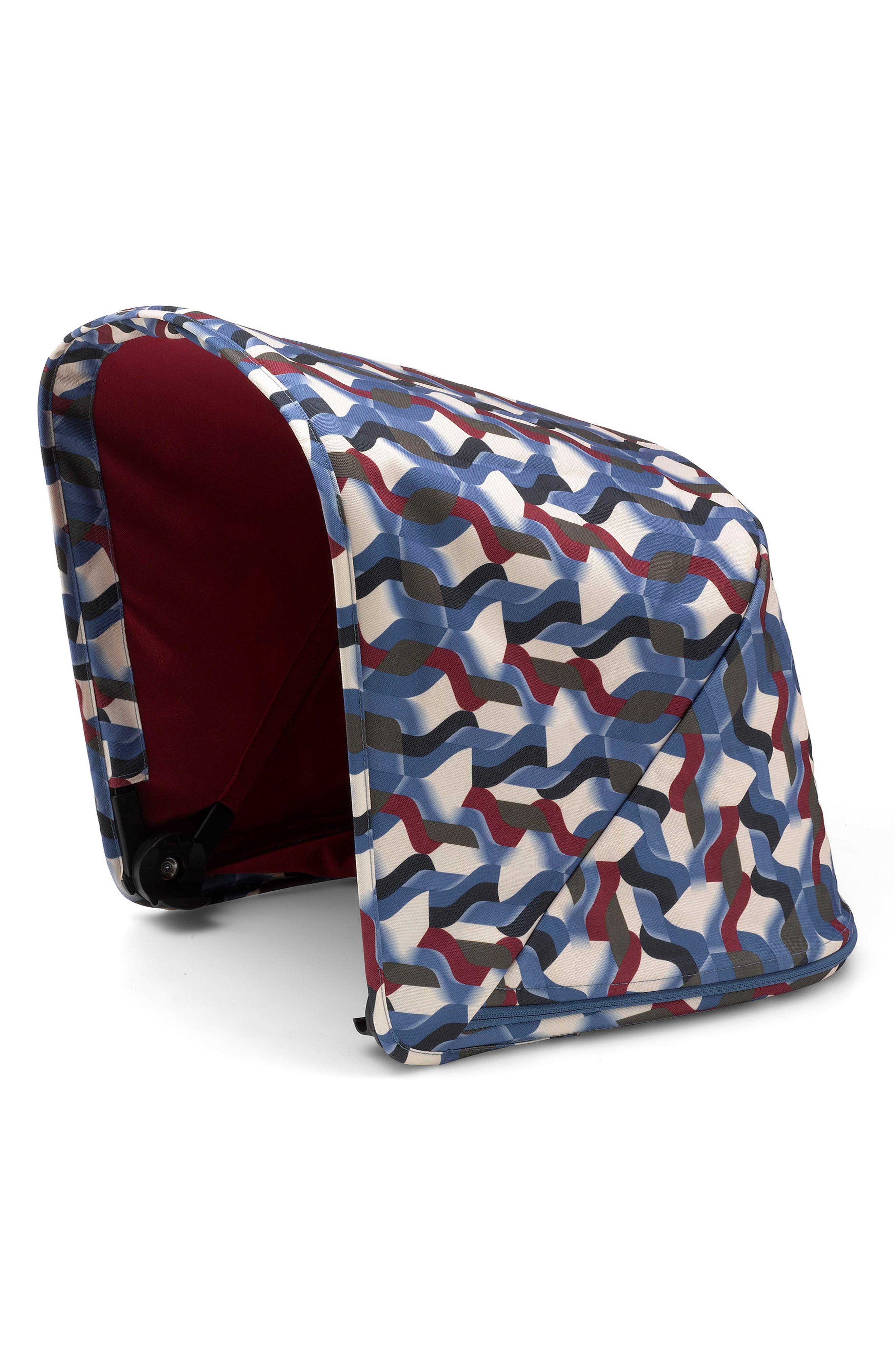 Waves Sun Canopy for Bugaboo Fox Stroller,                             Main thumbnail 1, color,                             Waves Print
