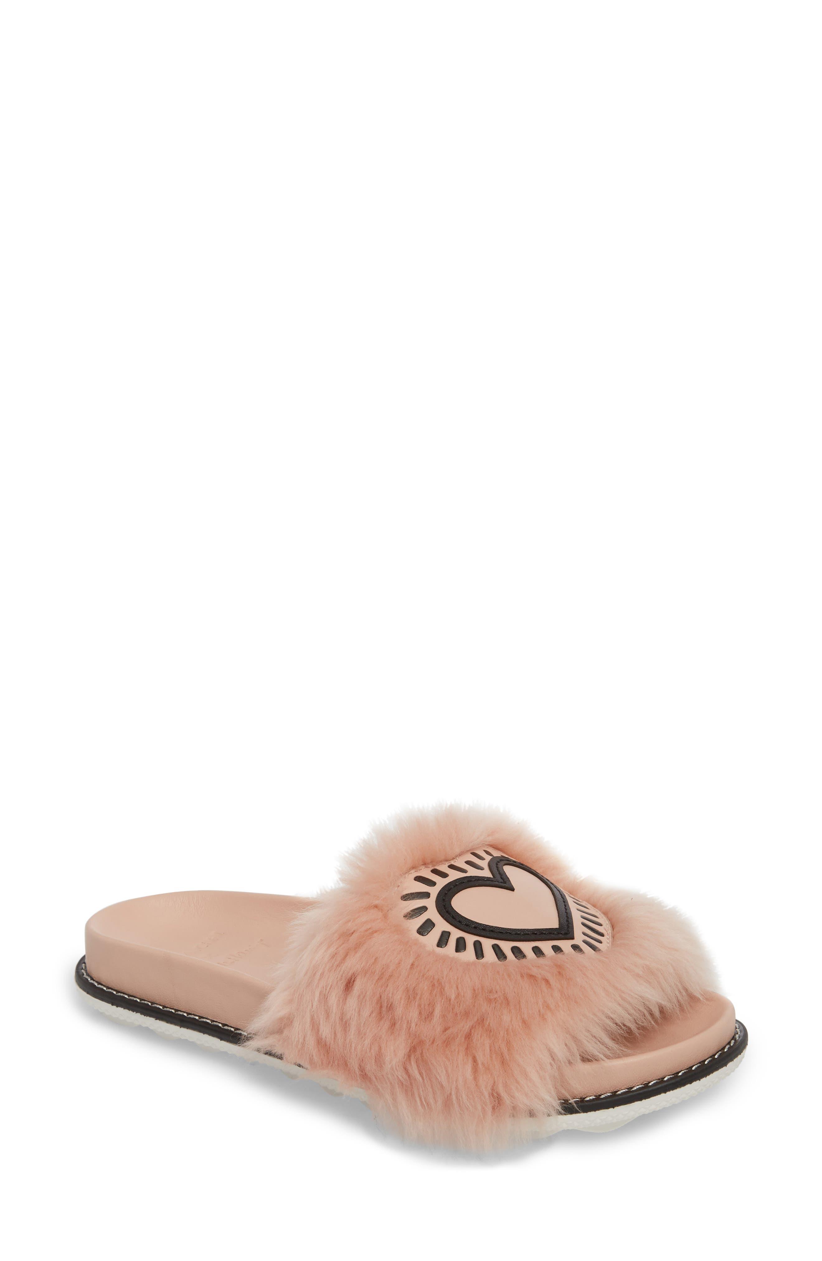 COACH x Keith Haring Genuine Shearling Slide Sandal (Women)