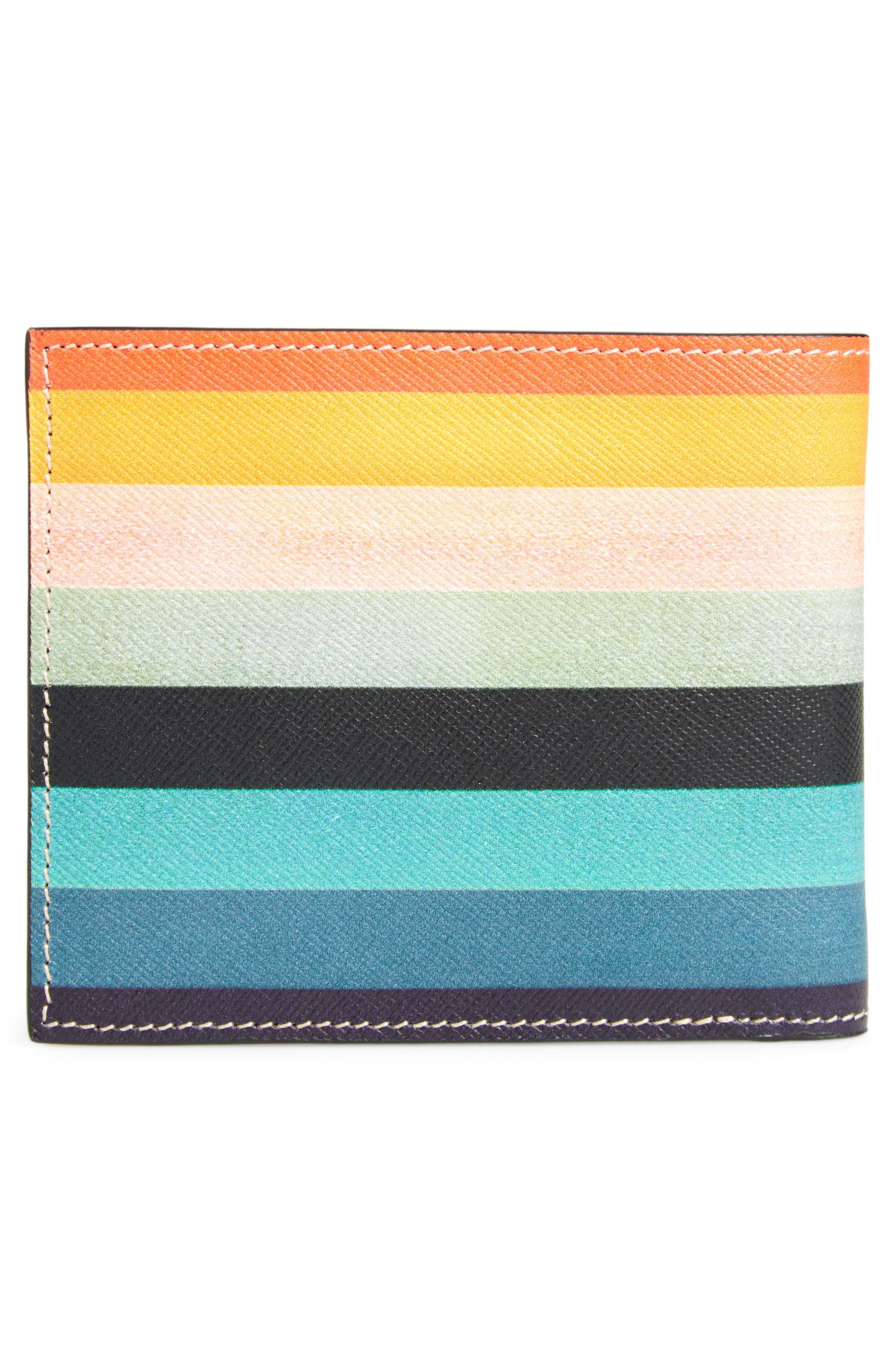Artist Stripes Leather Wallet,                             Alternate thumbnail 3, color,                             Artist Stripe