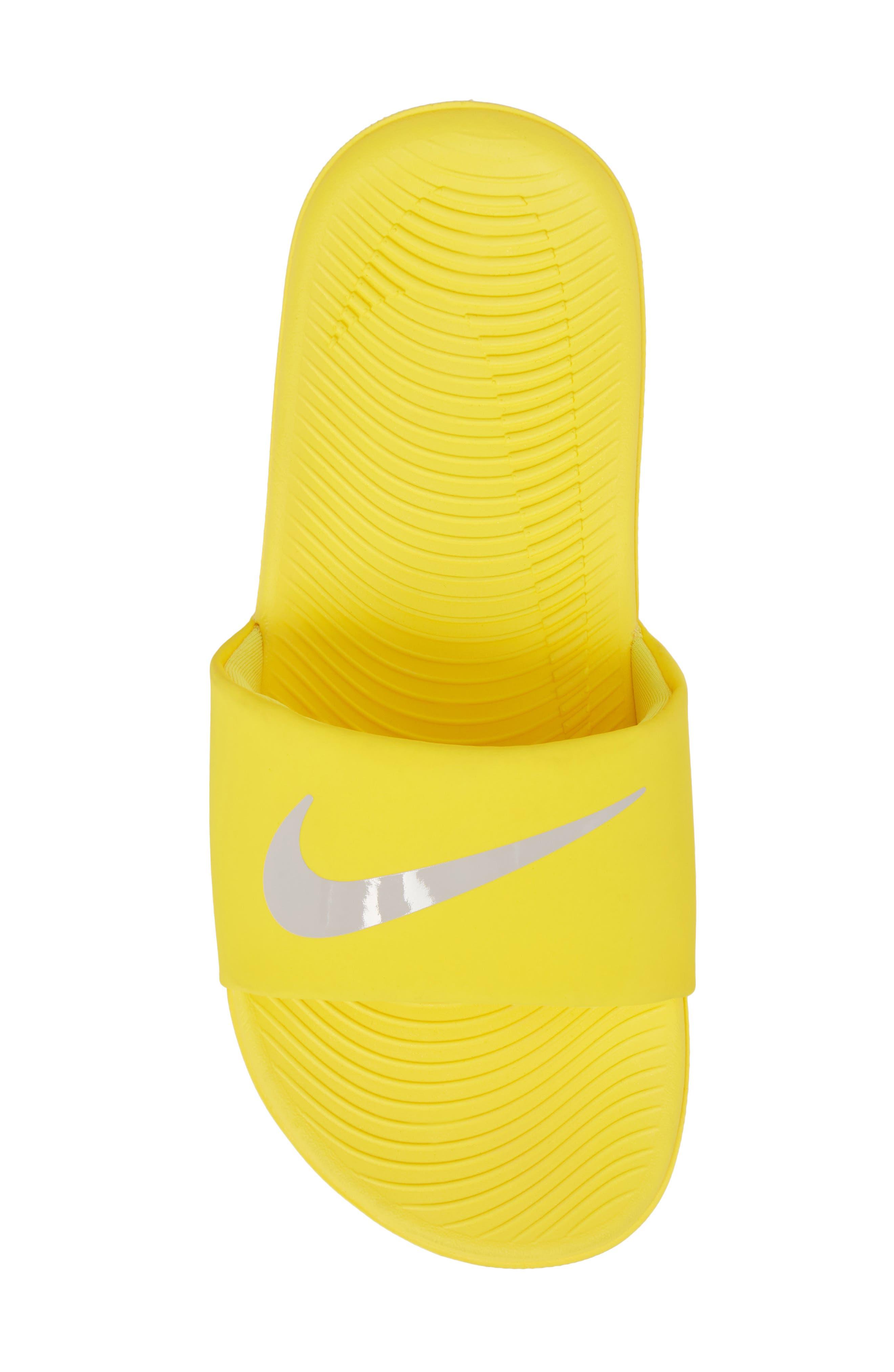 'Kawa' Slide Sandal,                             Alternate thumbnail 5, color,                             Yellow/ Atmosphere Grey