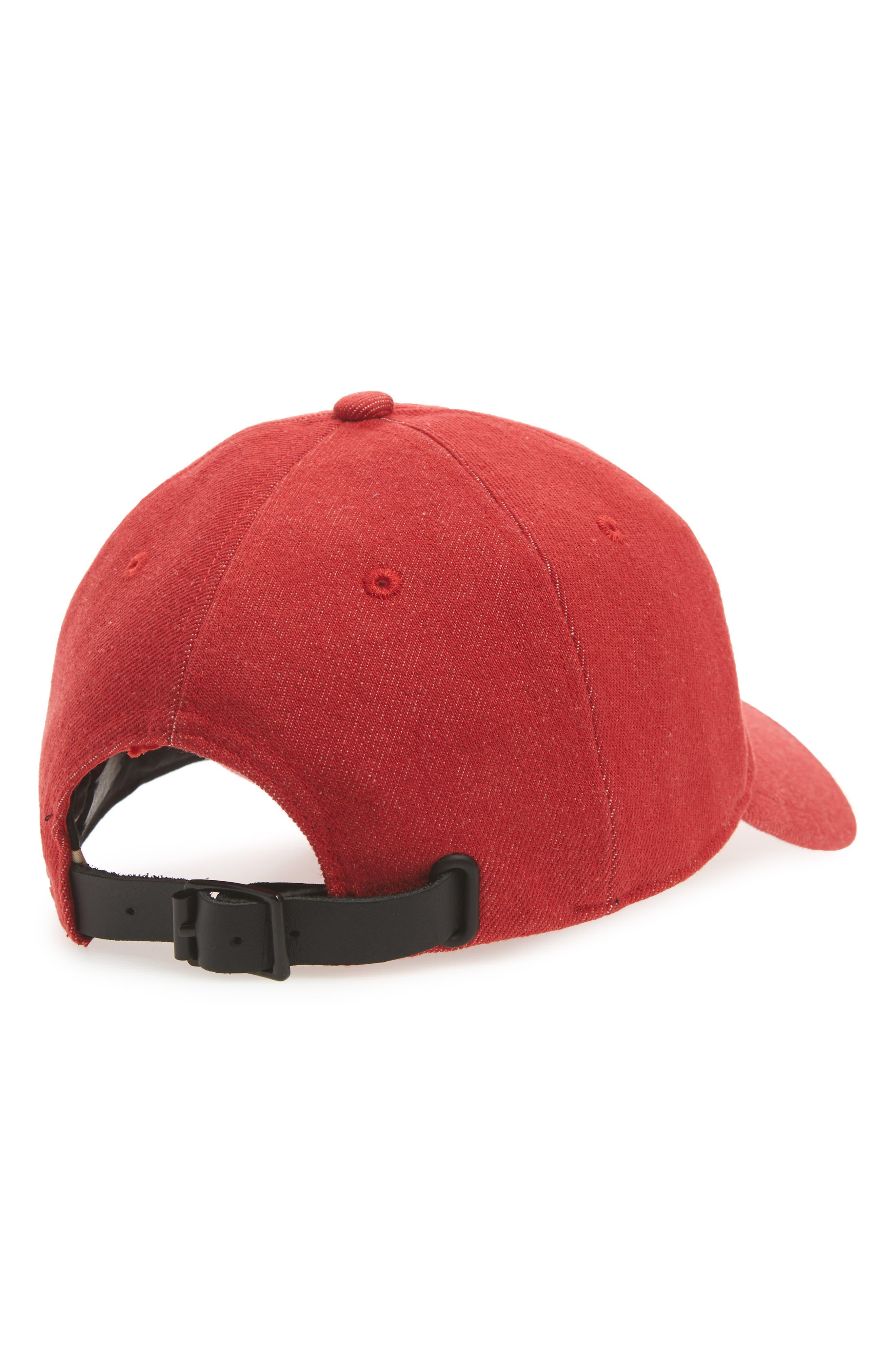 Marilyn Baseball Cap,                             Alternate thumbnail 2, color,                             Red