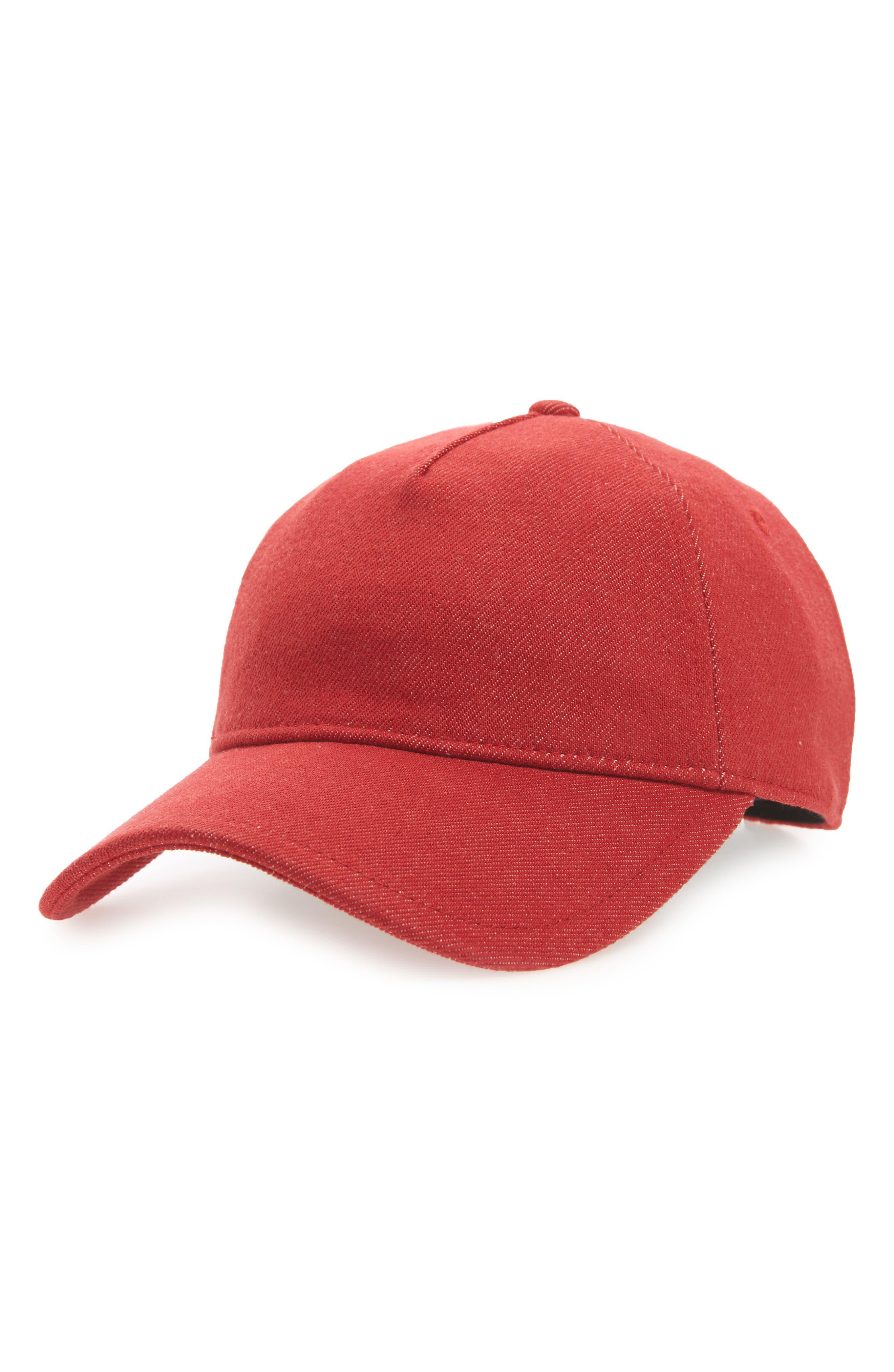 Marilyn Baseball Cap,                         Main,                         color, Red