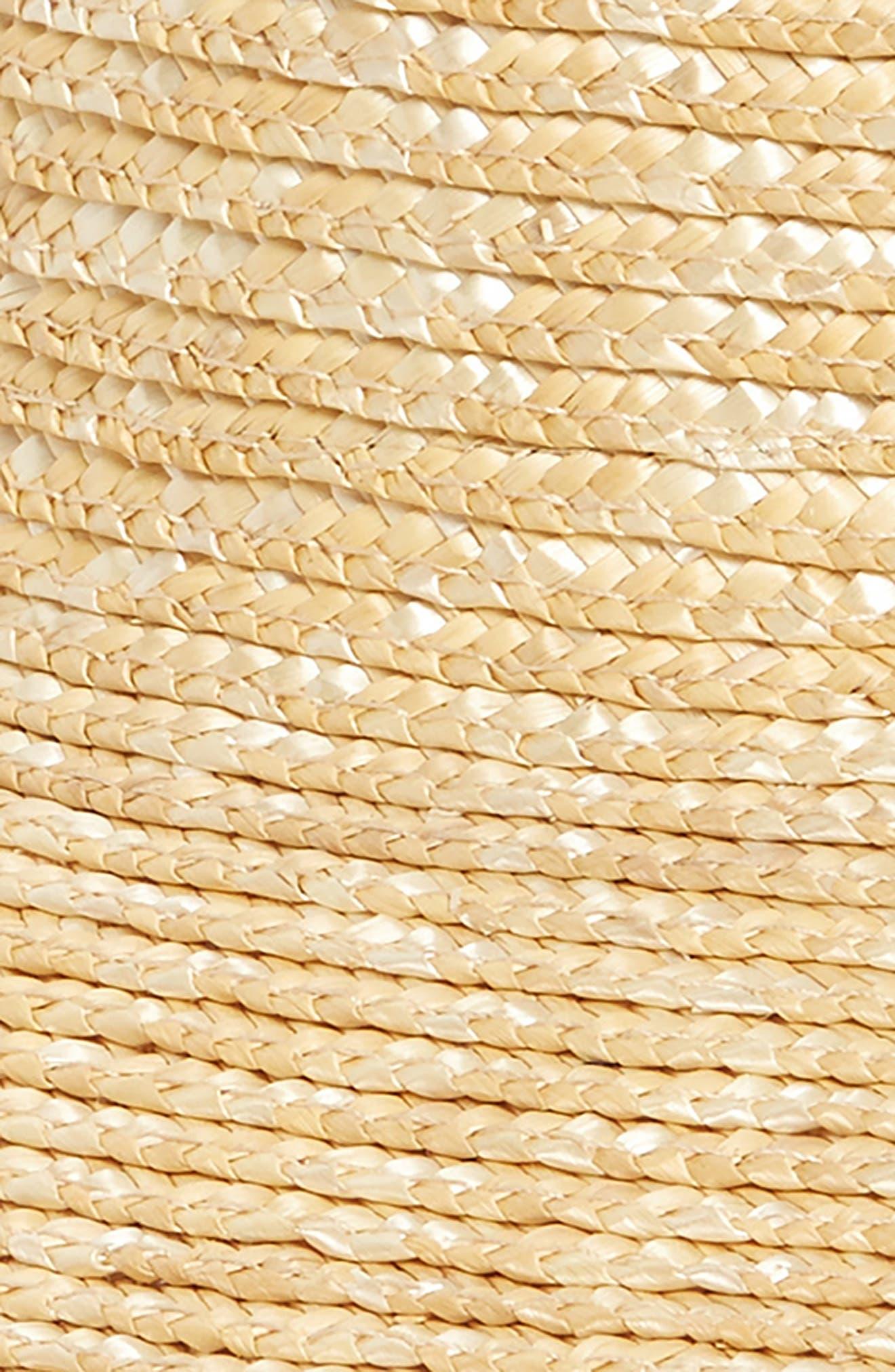 Packable Straw Visor,                             Alternate thumbnail 2, color,                             Natural