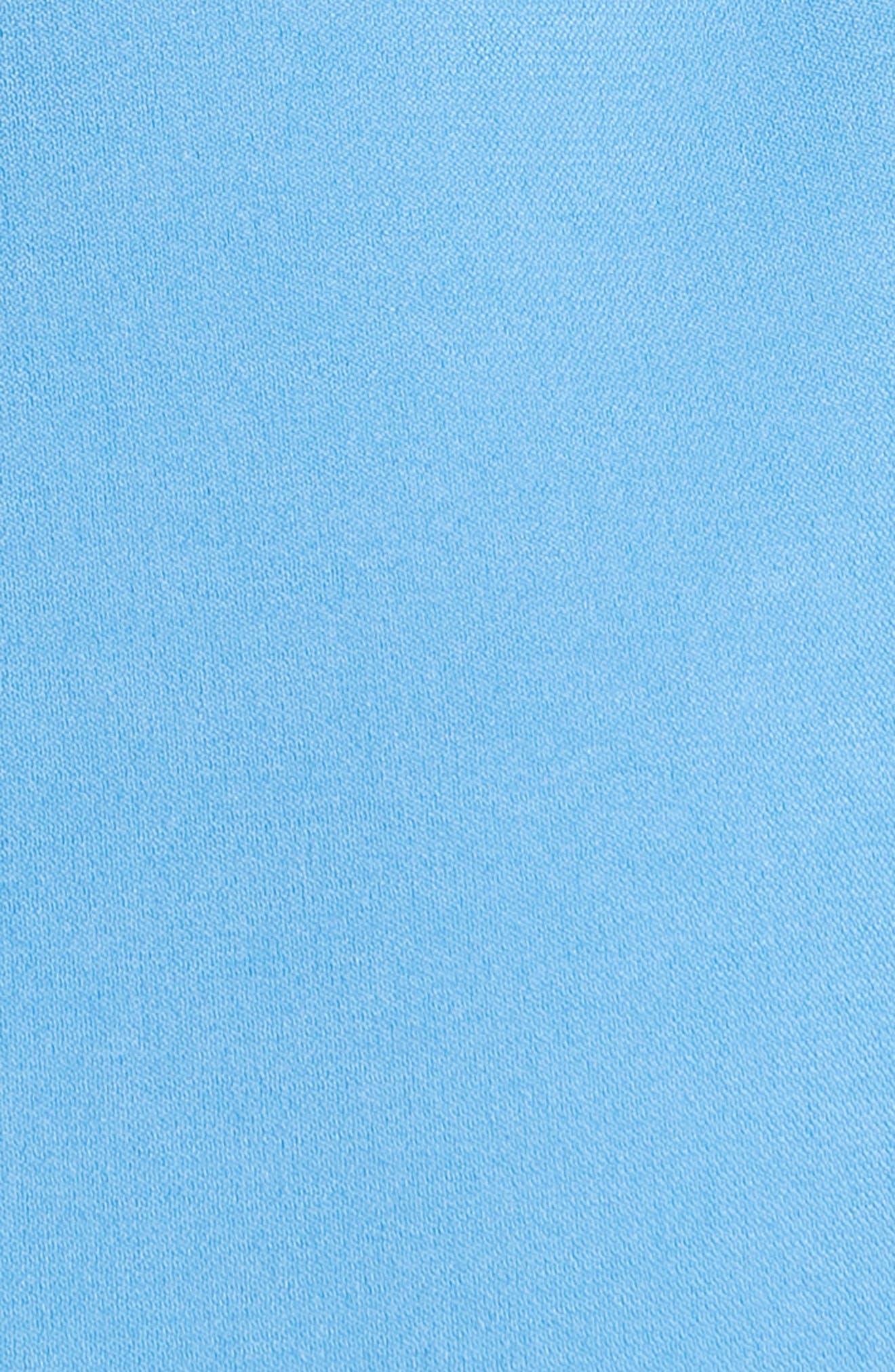 Essi Balloon Sleeve Crepe Satin Dress,                             Alternate thumbnail 5, color,                             Agapanthus