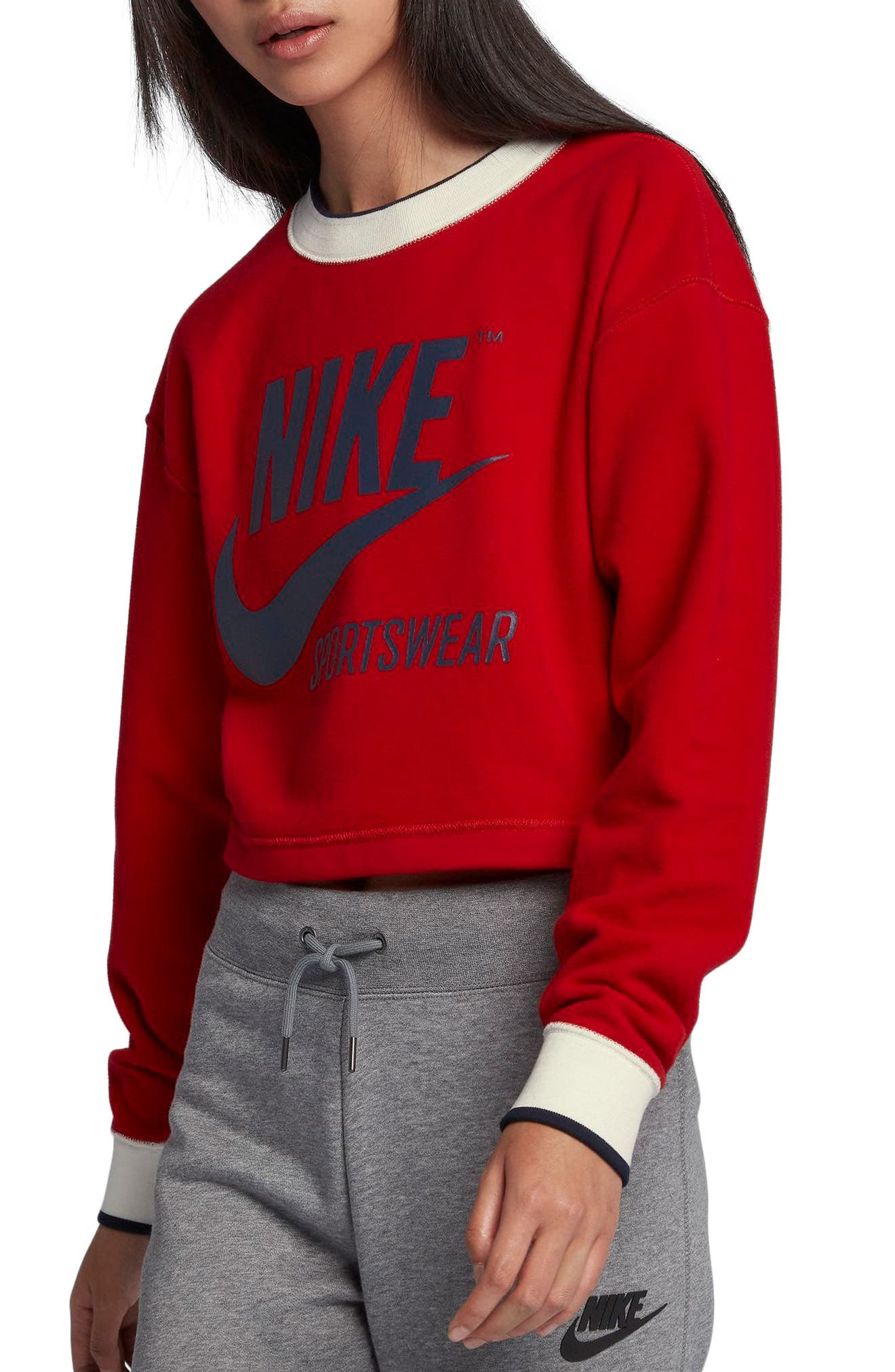 Nike Reversible Crop Sweatshirt