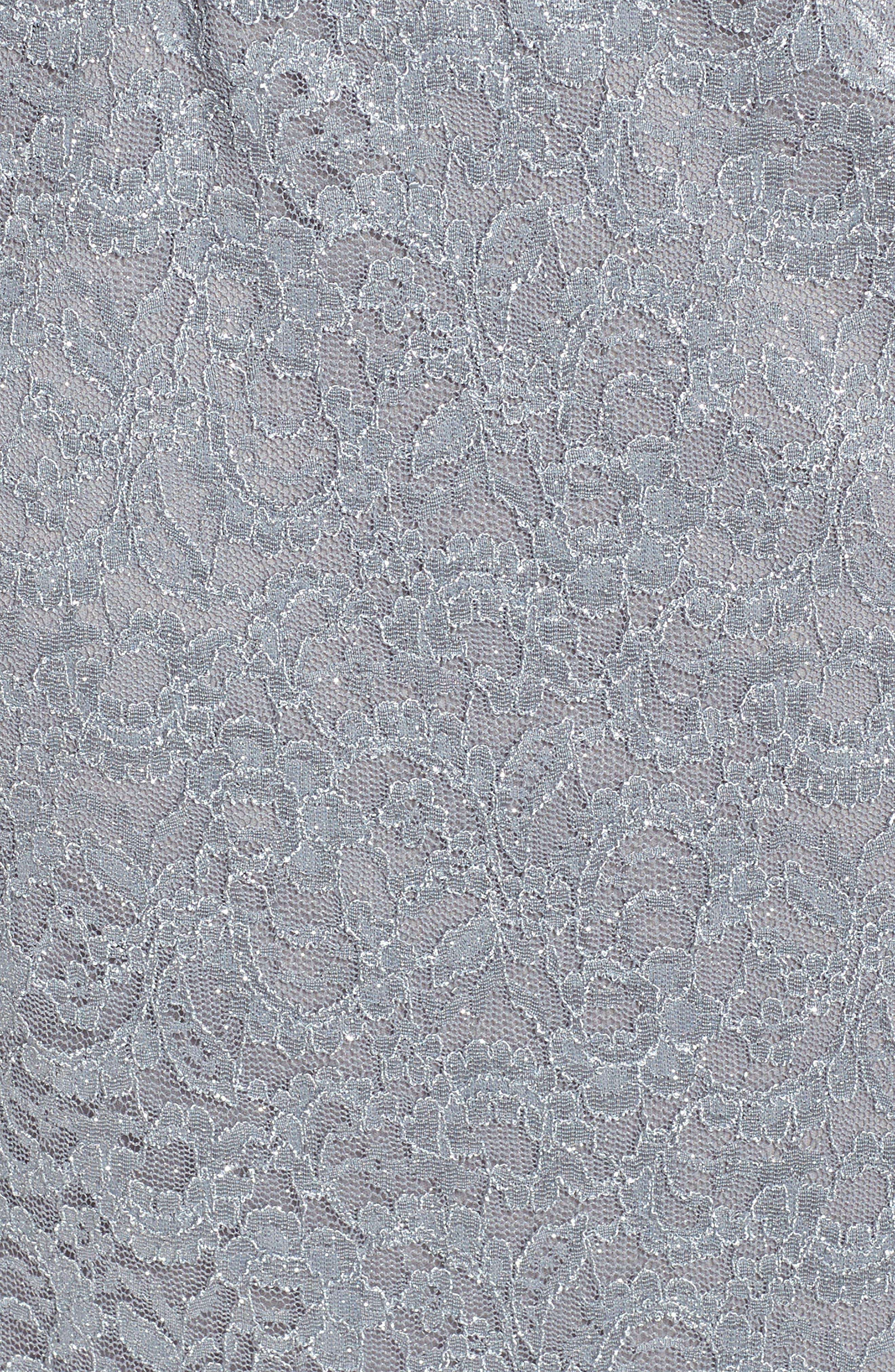 Lace Sheath Dress with Bolero Jacket,                             Alternate thumbnail 5, color,                             Silver