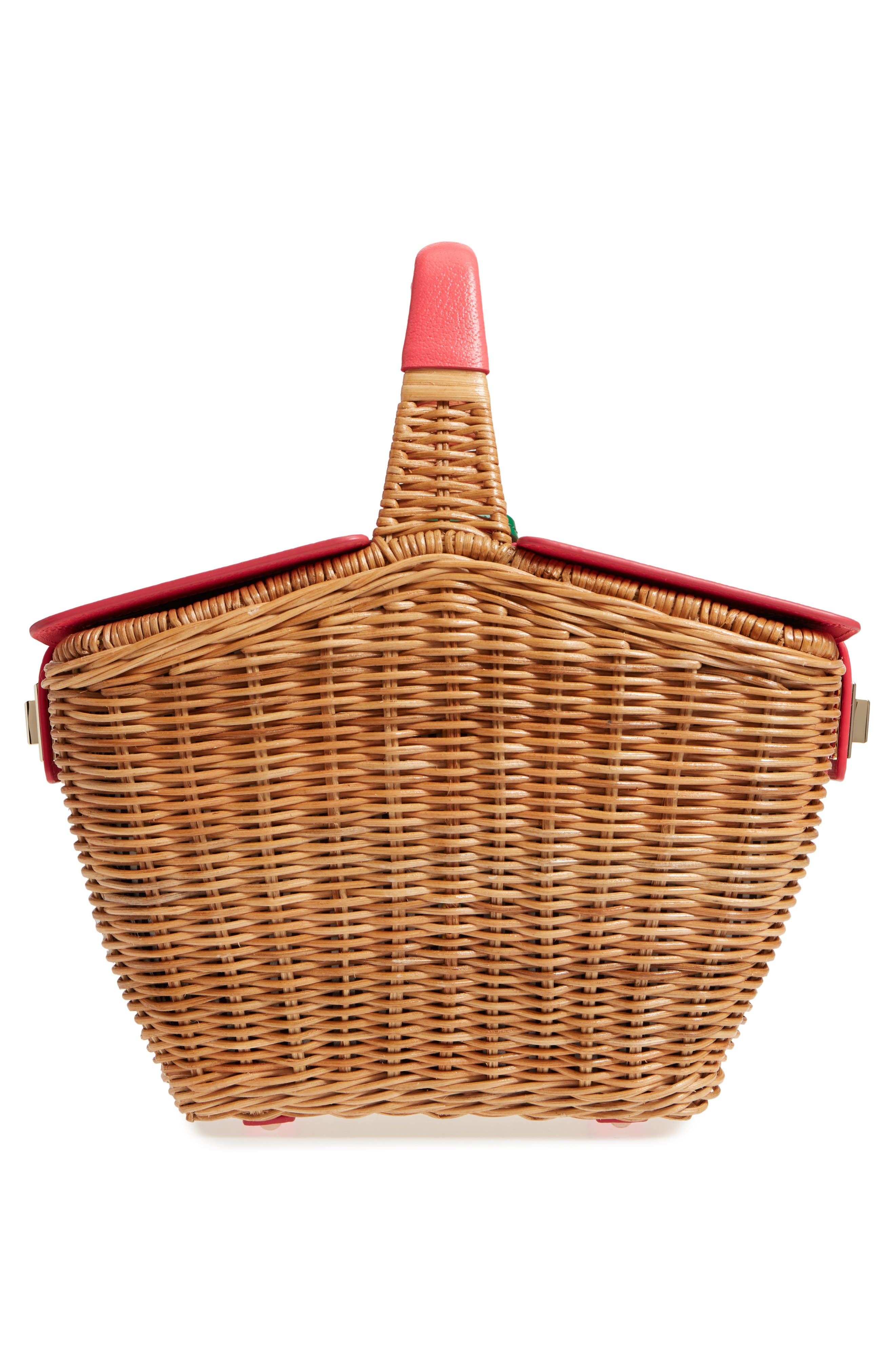 picnic perfect 3D wicker picnic basket,                             Alternate thumbnail 3, color,                             Multi