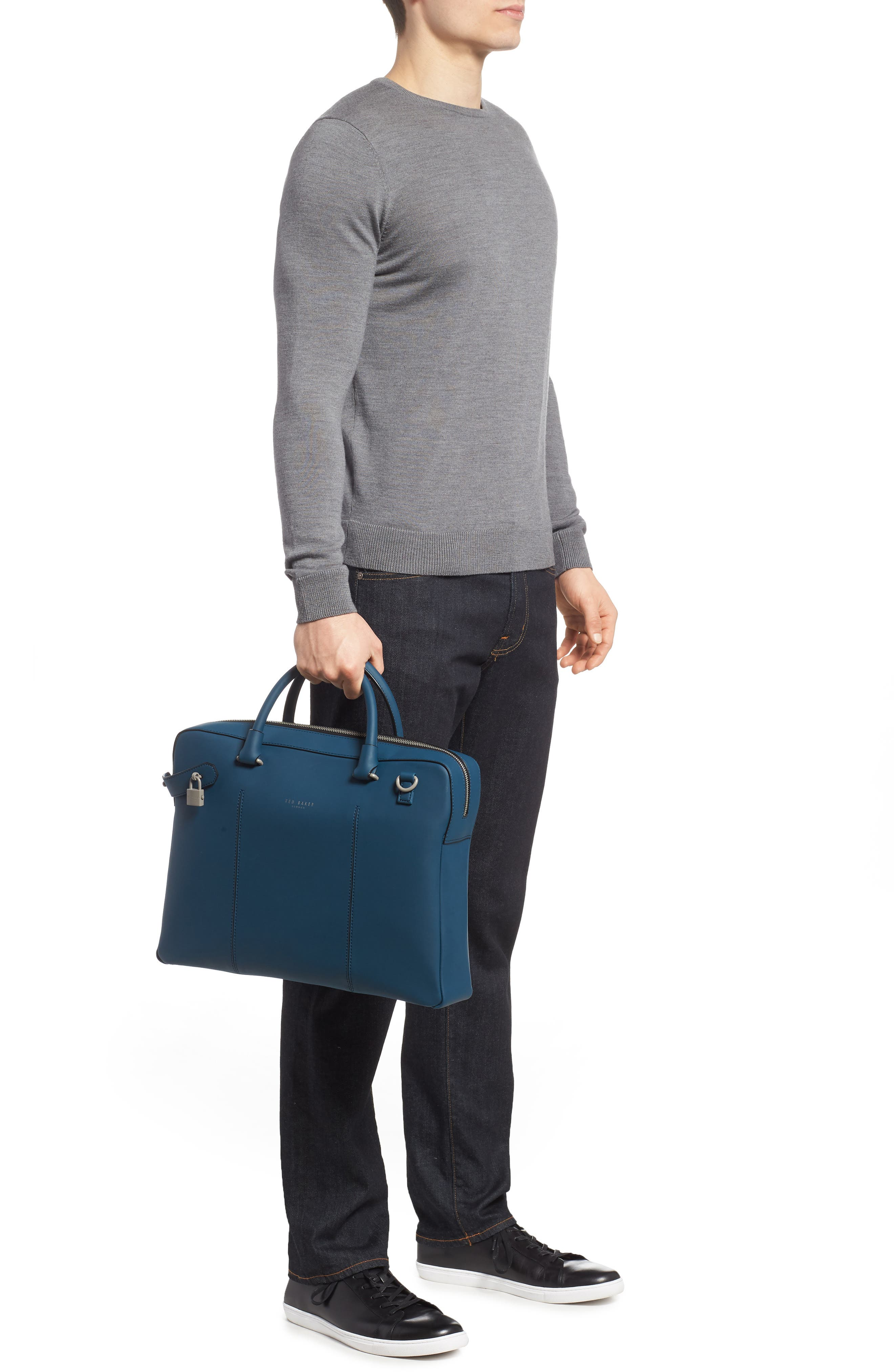 Carab Document Bag,                             Alternate thumbnail 2, color,                             Navy
