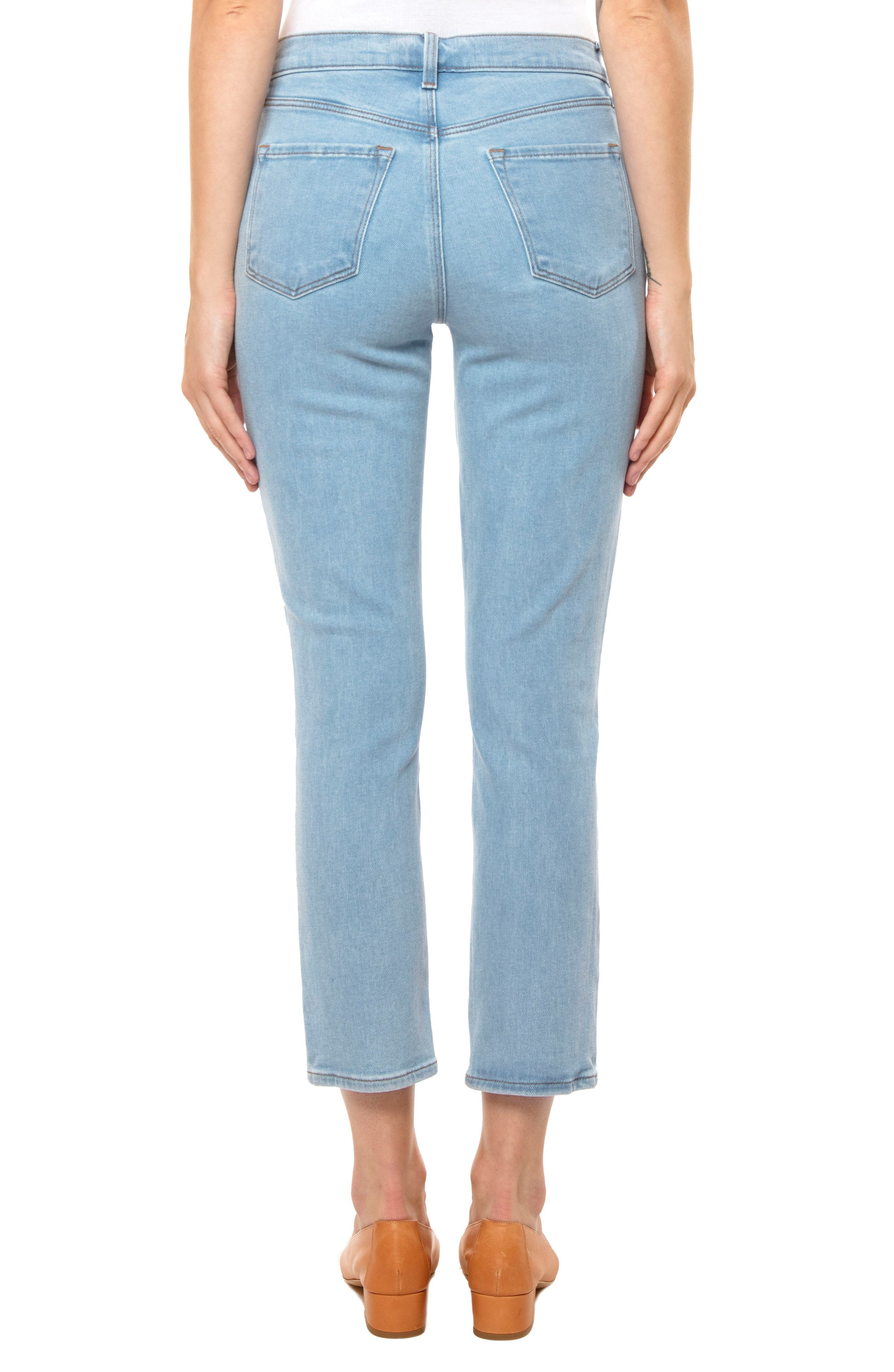 Ruby High Waist Crop Jeans,                             Alternate thumbnail 2, color,                             Silvery