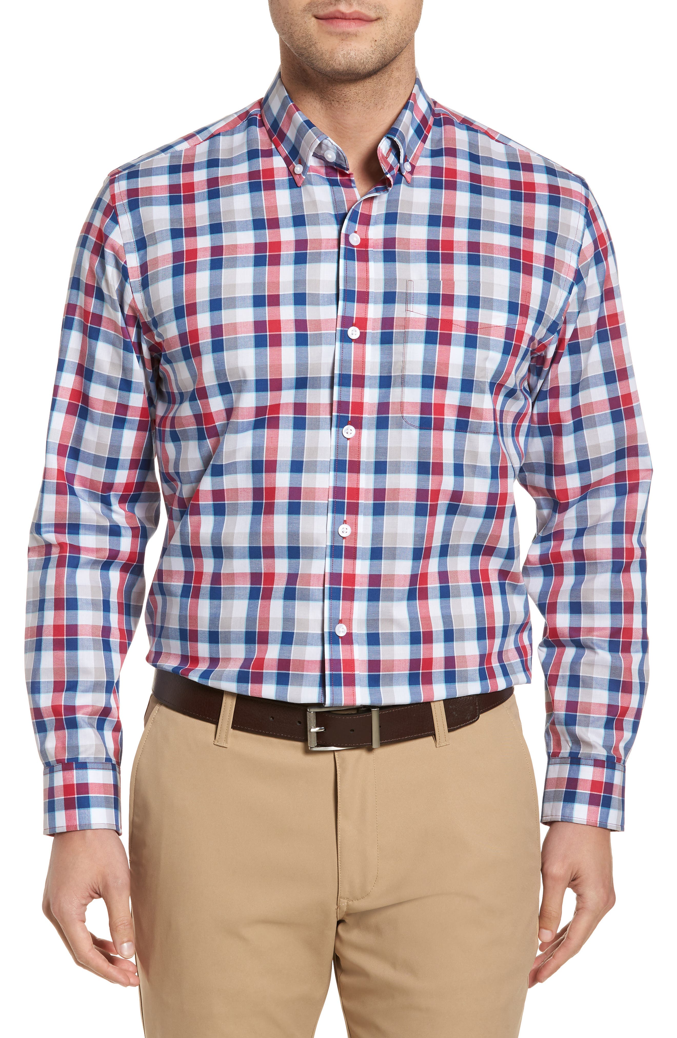 Dylan Classic Fit Easy Care Check Sport Shirt,                         Main,                         color, Virtual