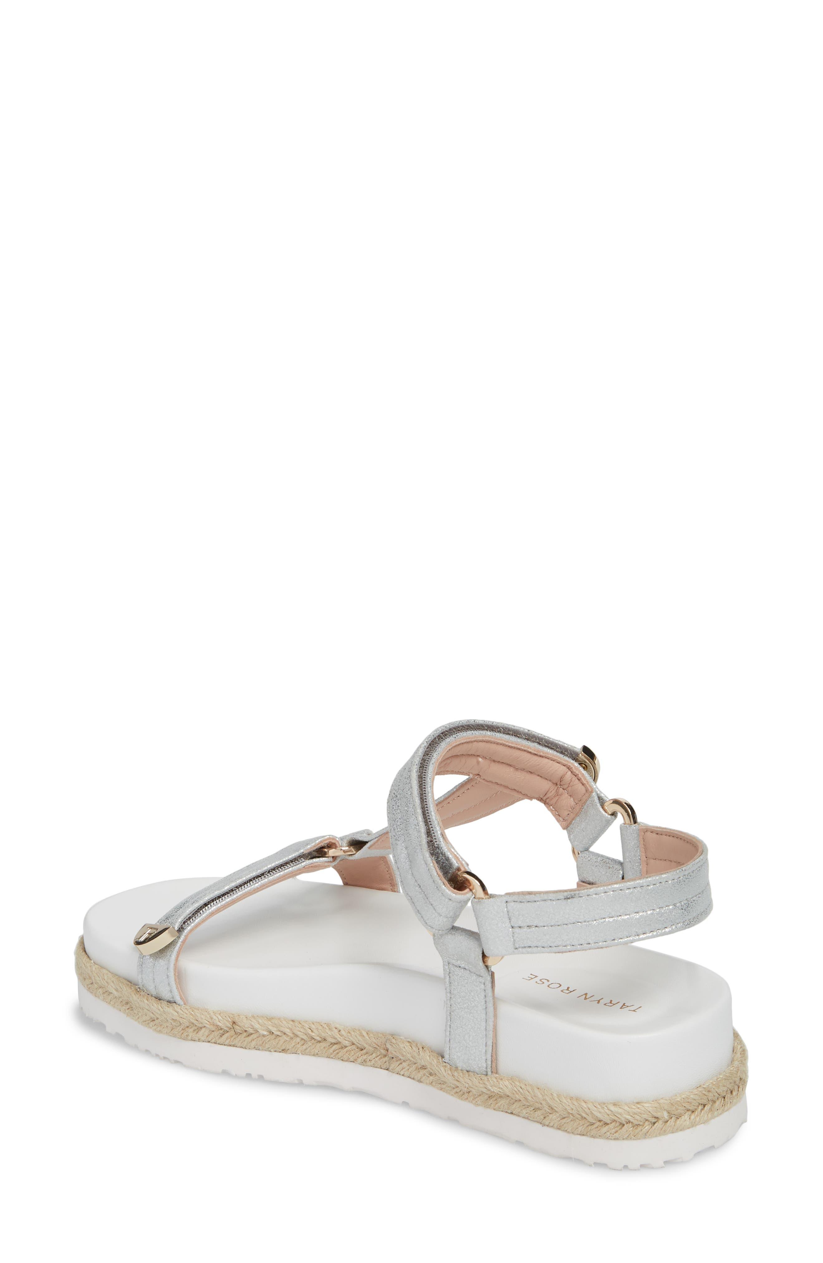 Lydia Platform Sport Sandal,                             Alternate thumbnail 2, color,                             Silver Leather