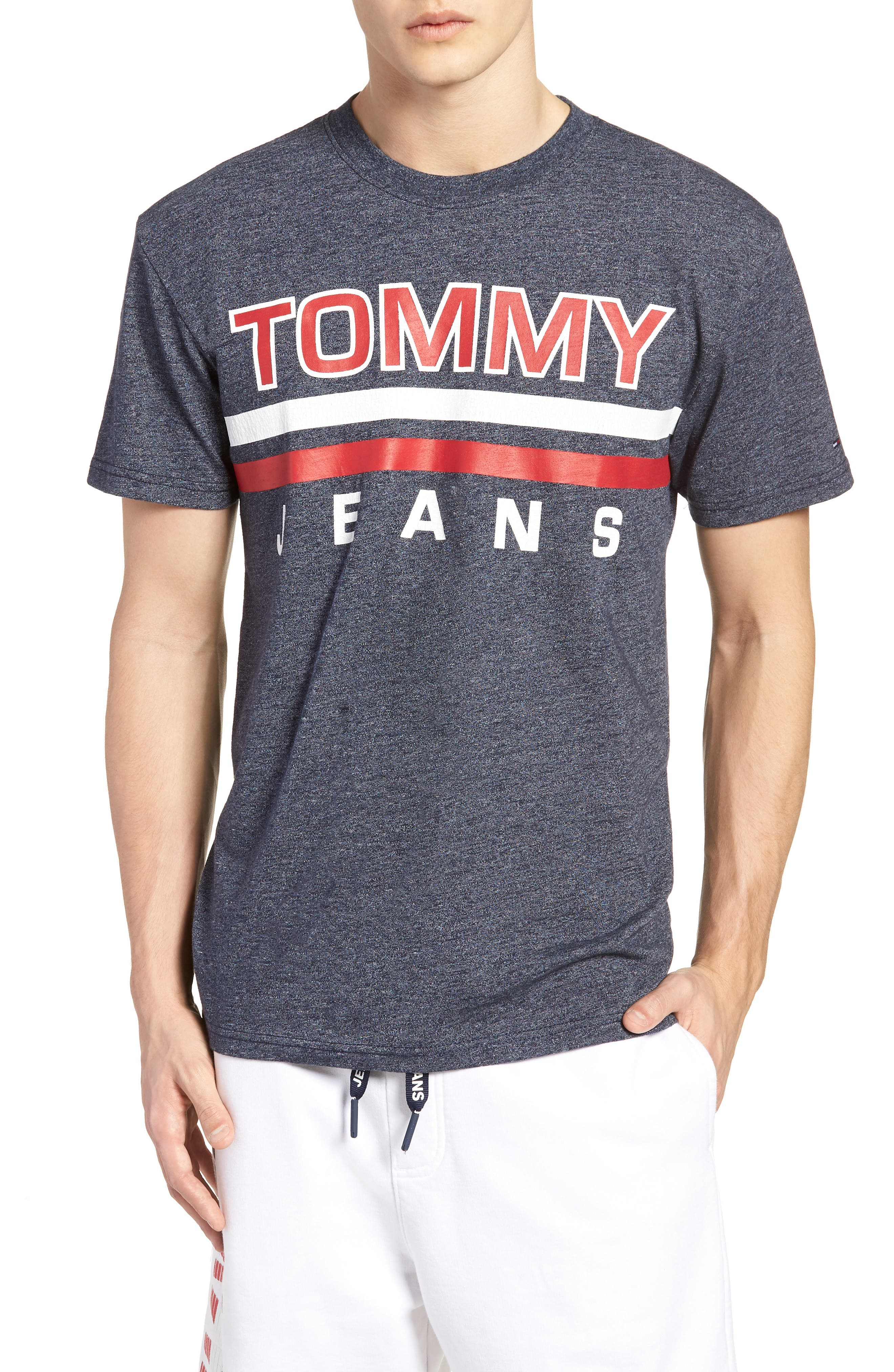 Alternate Image 1 Selected - TOMMY JEANS Stripe Graphic T-Shirt