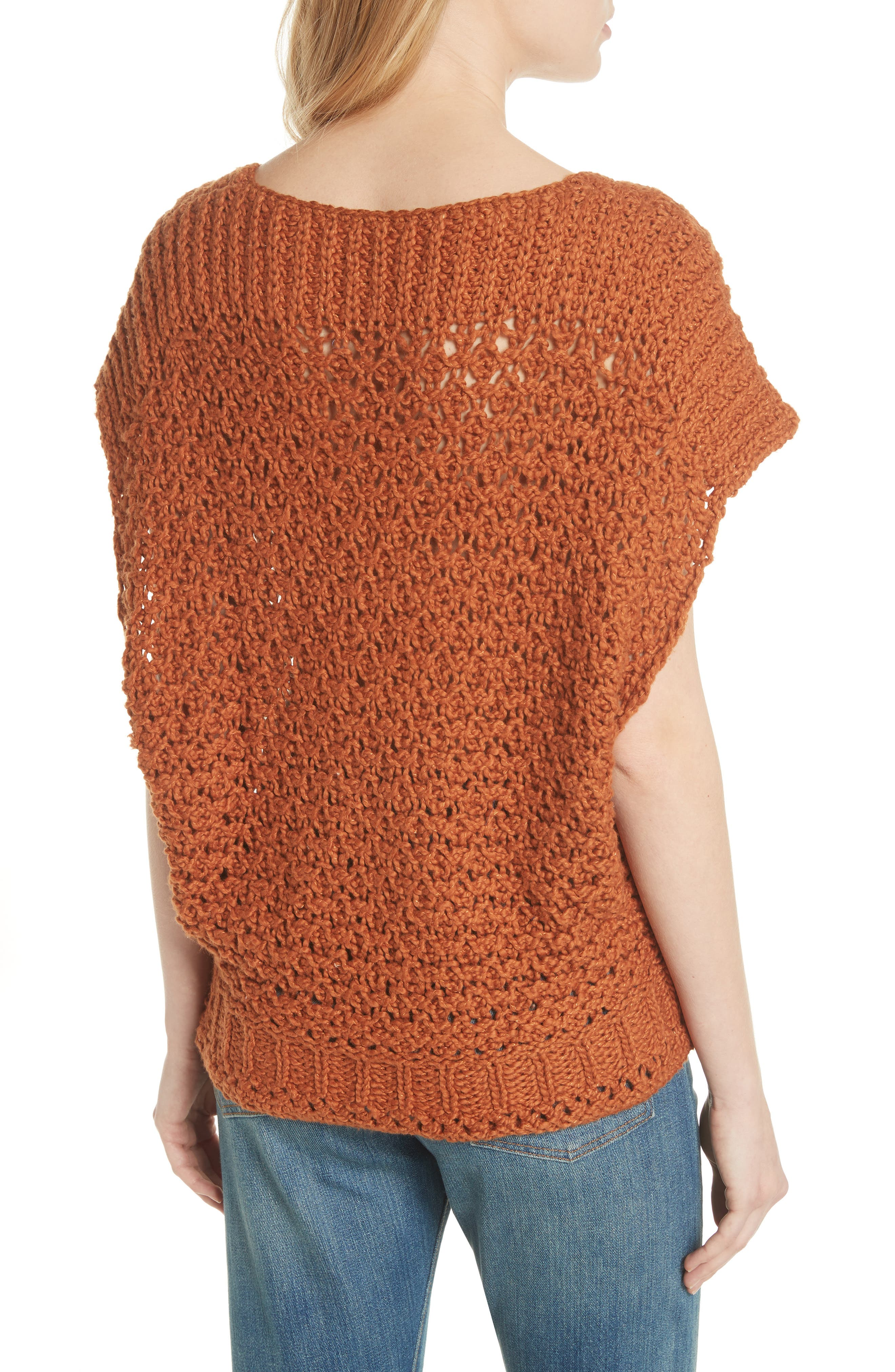 Diamond in the Rough Sweater,                             Alternate thumbnail 2, color,                             Terracotta