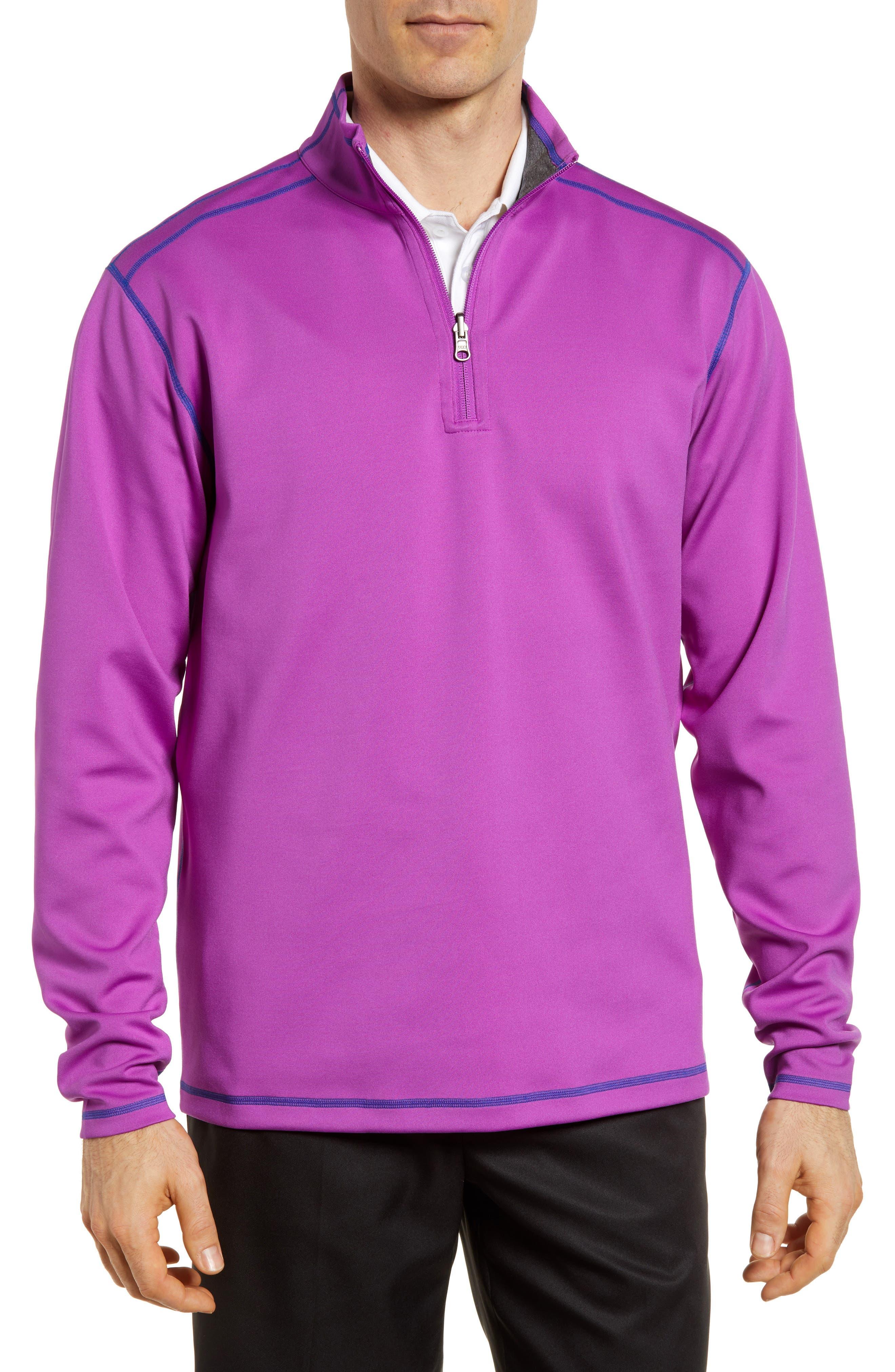 Evergreen Reversible Quarter Zip Pullover,                             Main thumbnail 1, color,                             Magnetic