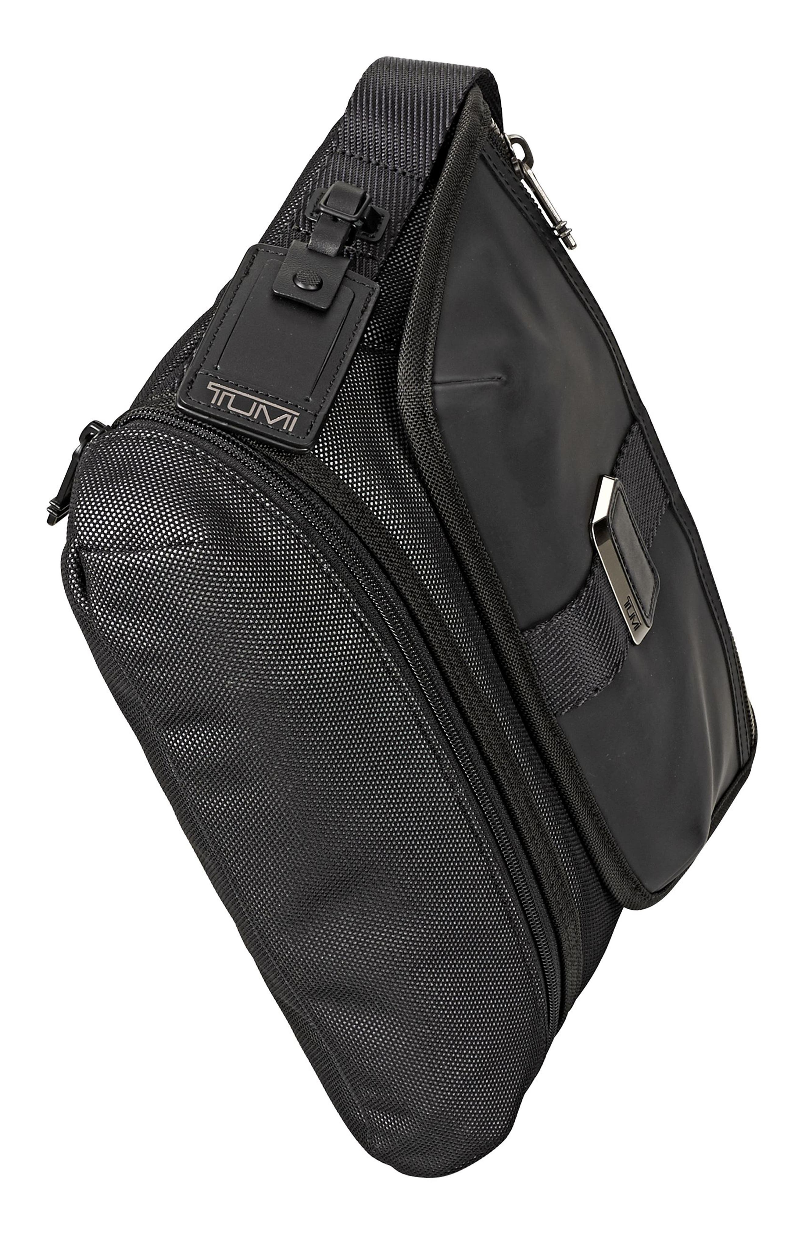 Alpha Bravo - Travis Crossbody Messenger Bag,                             Alternate thumbnail 5, color,                             Reflective Silver