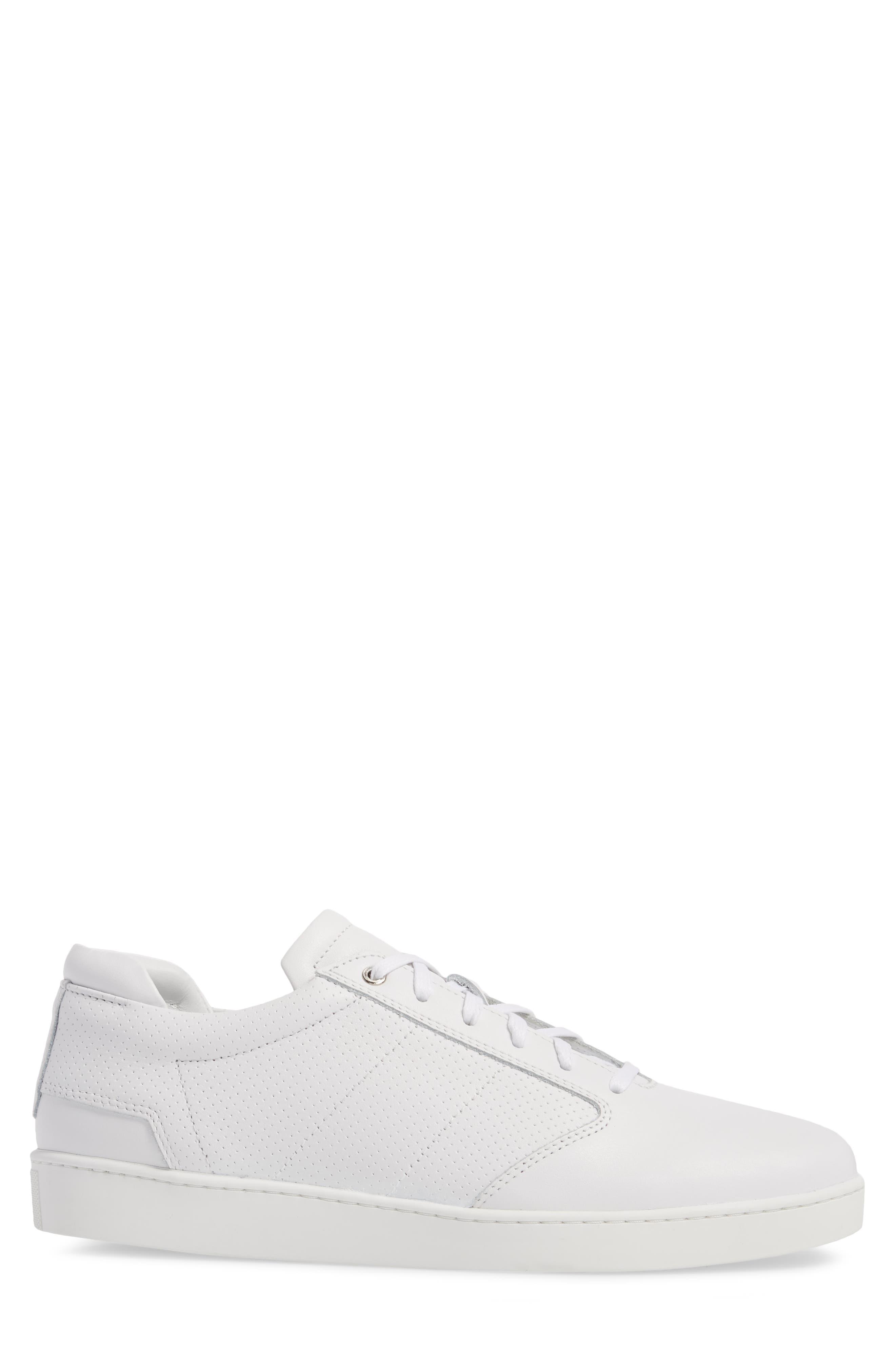 Lennon Sneaker,                             Alternate thumbnail 3, color,                             Multi Perforated White