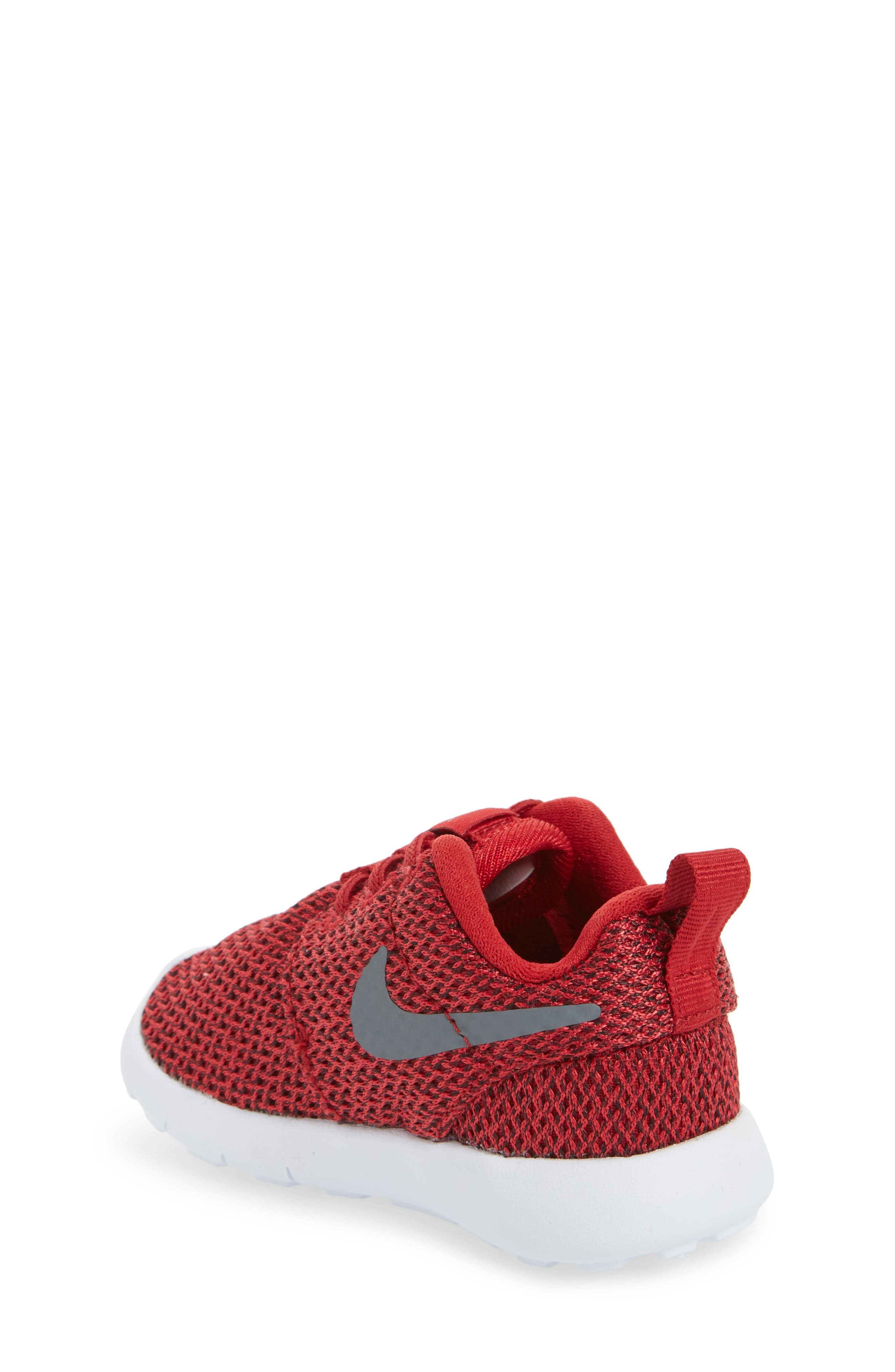 'Roshe Run' Sneaker,                             Alternate thumbnail 2, color,                             Gym Red/ Cool Grey/ Anthracite