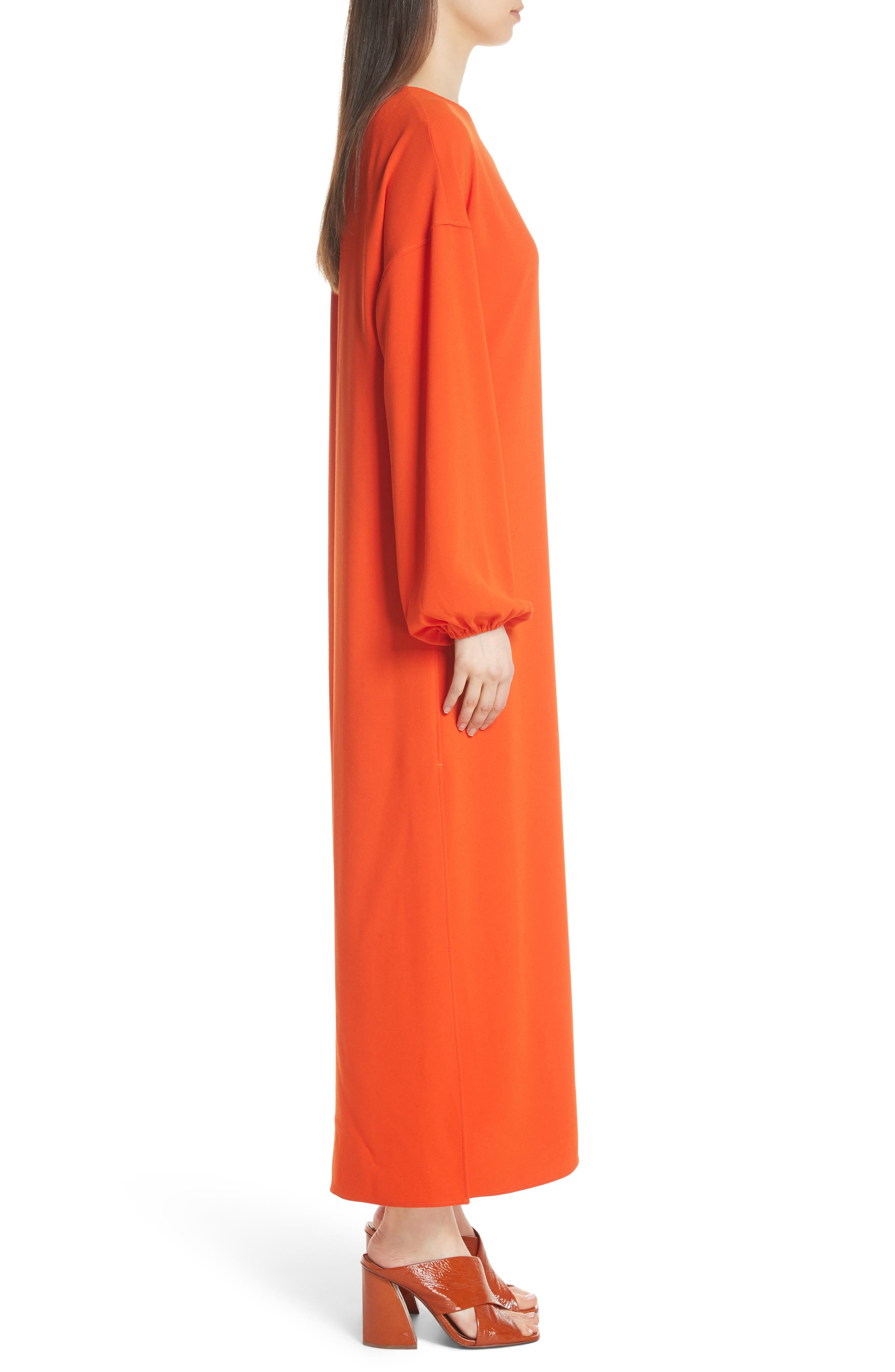 Shontae One-Shoulder Maxi Dress,                             Alternate thumbnail 4, color,                             Tangerine