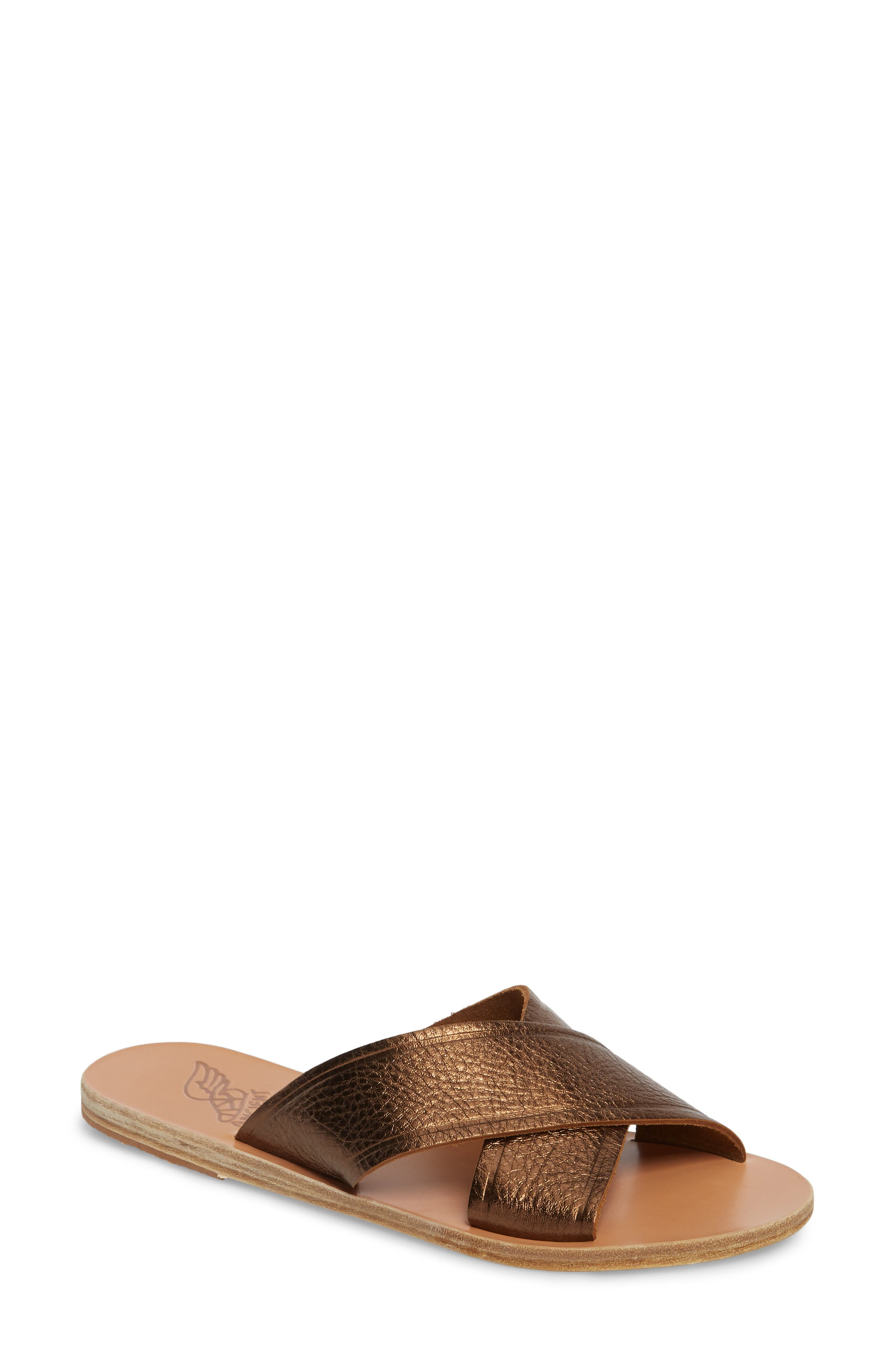 Thais Slide Sandal,                         Main,                         color, Bronze/ Coco
