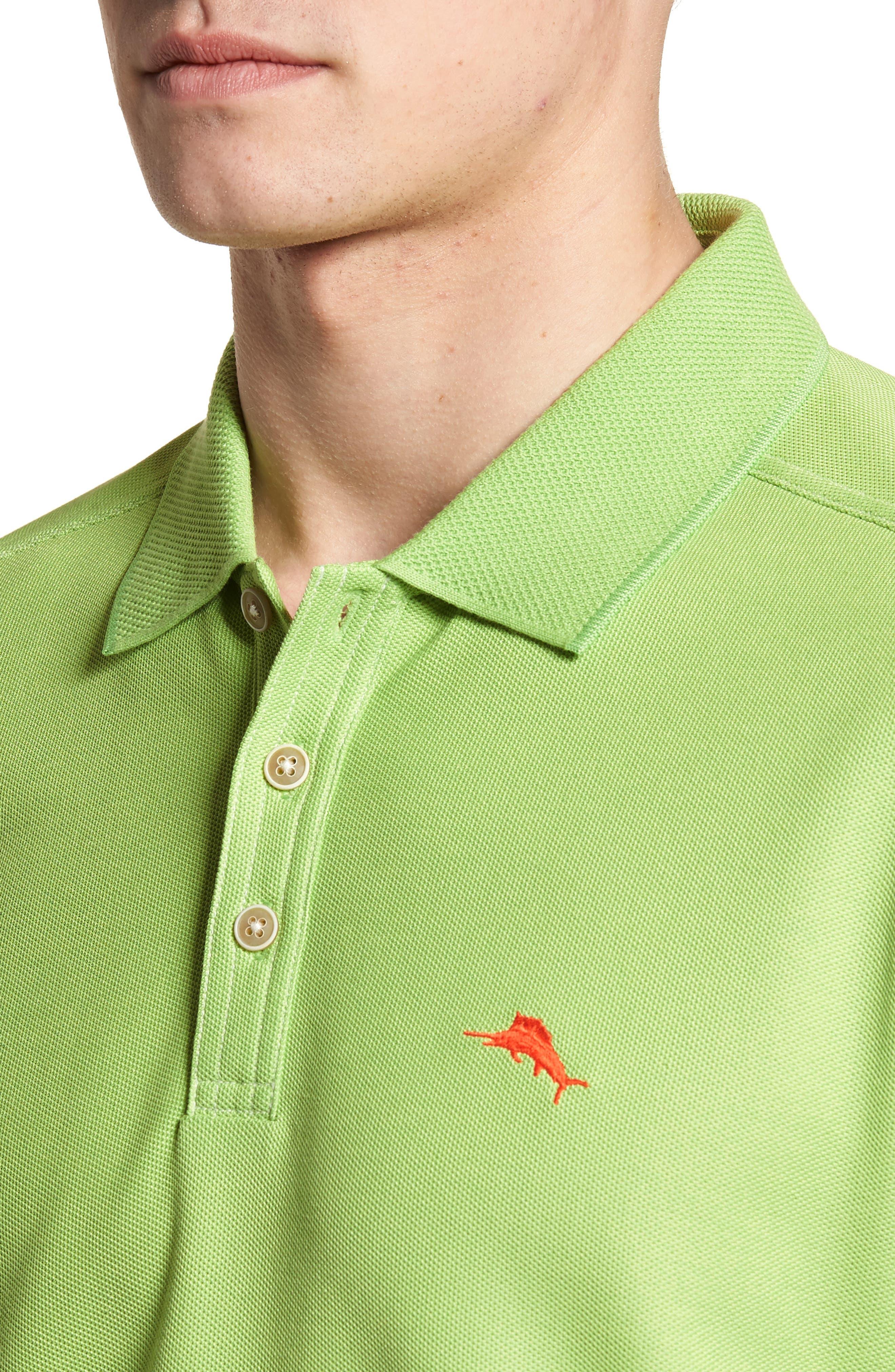 'The Emfielder' Original Fit Piqué Polo,                             Alternate thumbnail 3, color,                             Caicos Green