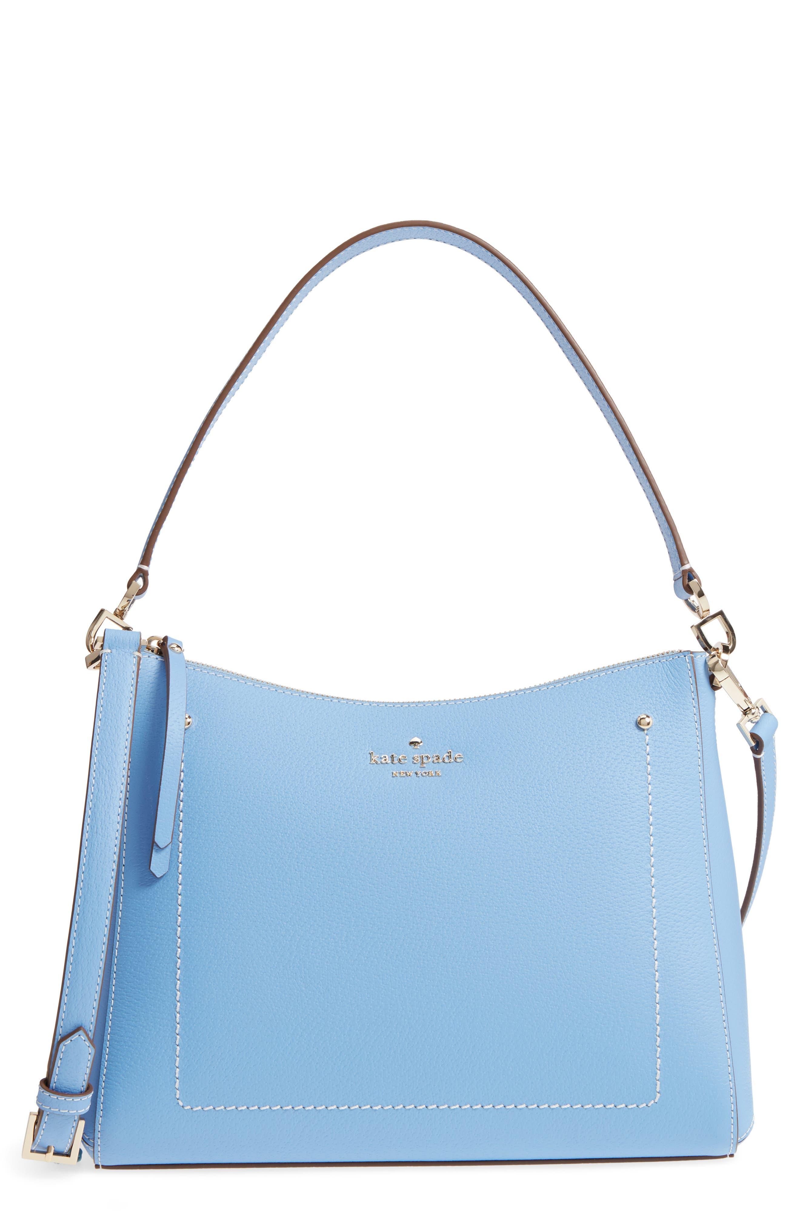 thompson street - marti leather shoulder/crossbody bag,                         Main,                         color, Fable Blue