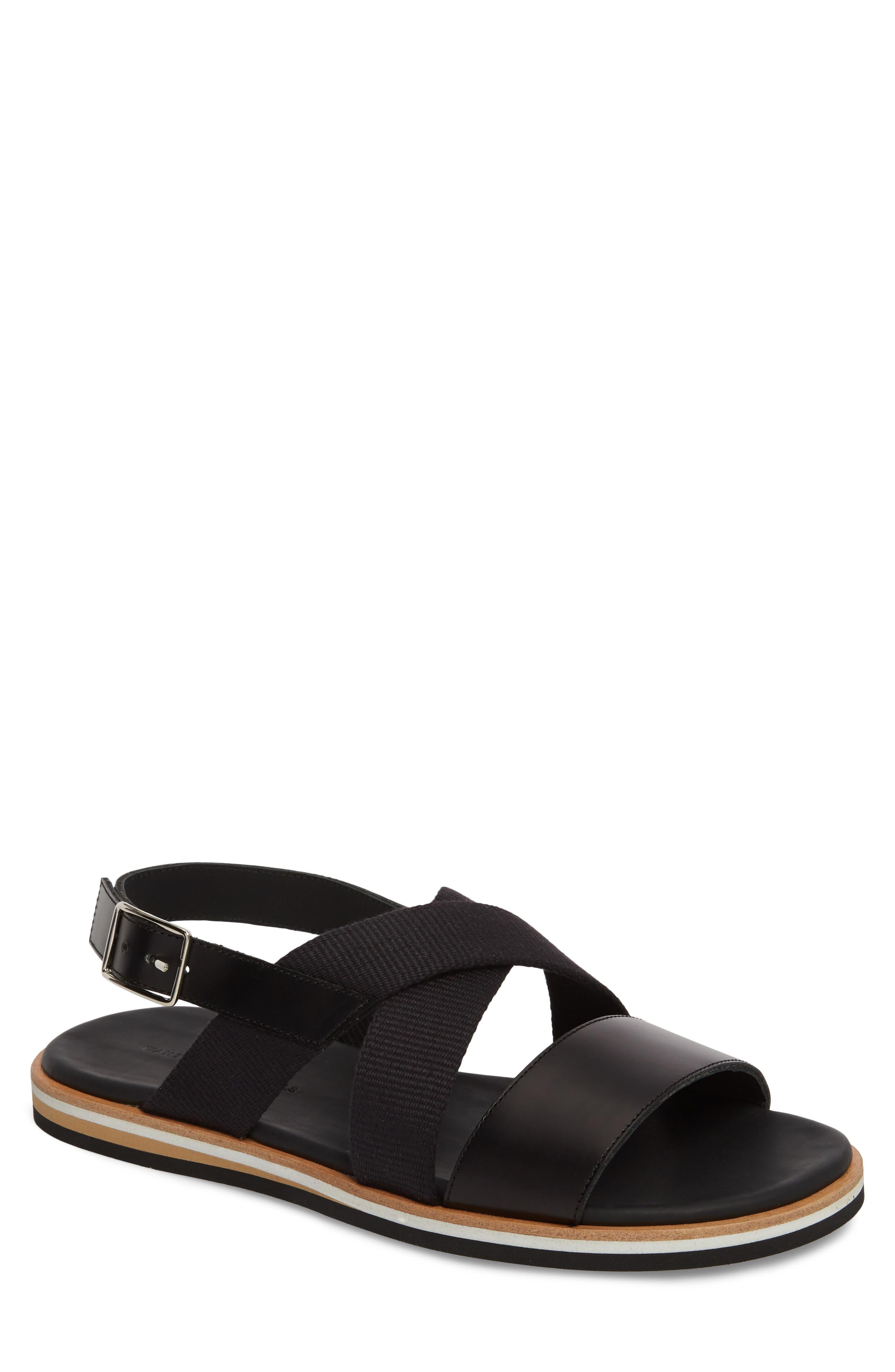 Jobim Sandal,                             Main thumbnail 1, color,                             Black Cord/ Black
