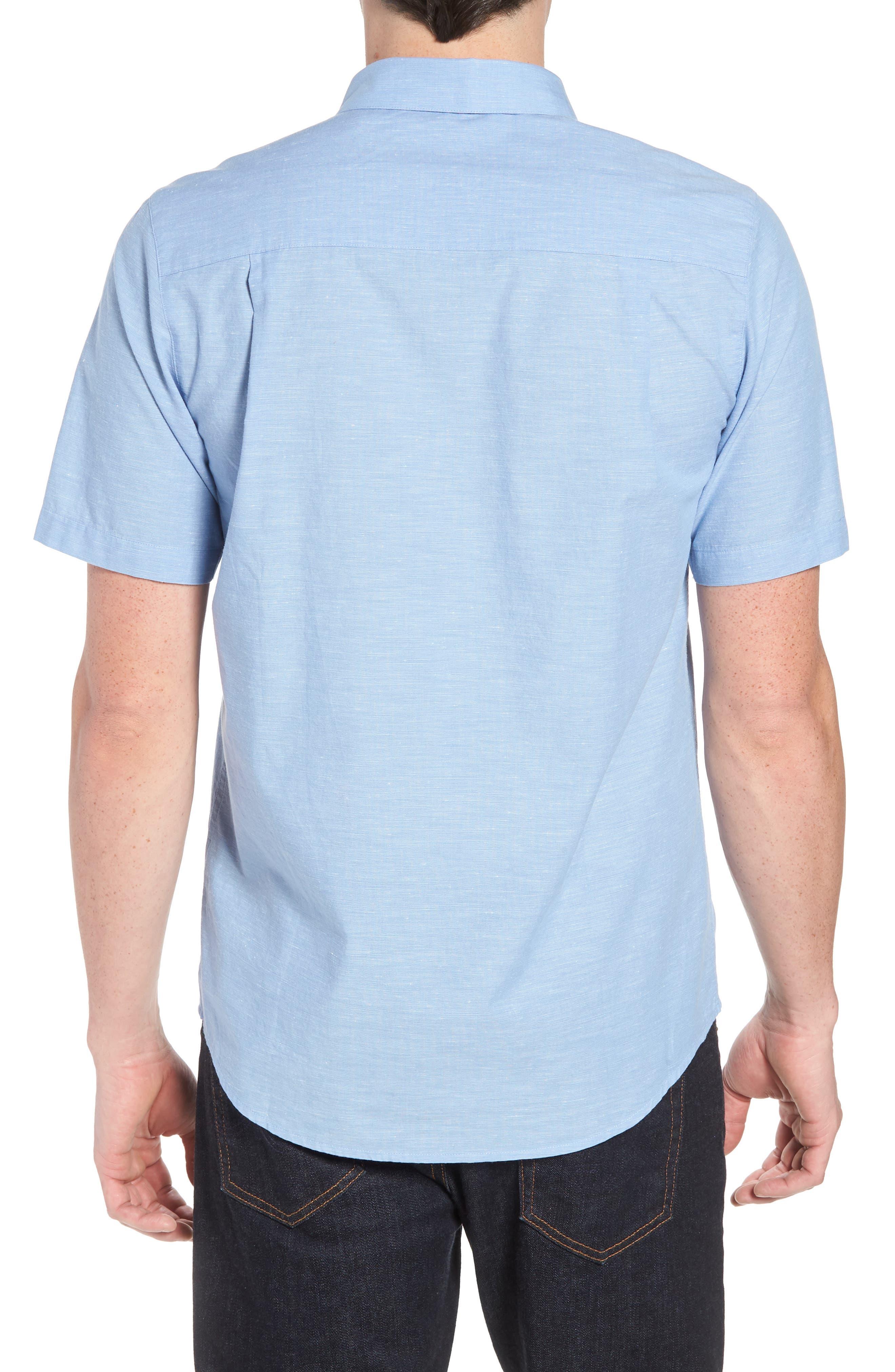 Canal Street Sport Shirt,                             Alternate thumbnail 3, color,                             Heather Allure