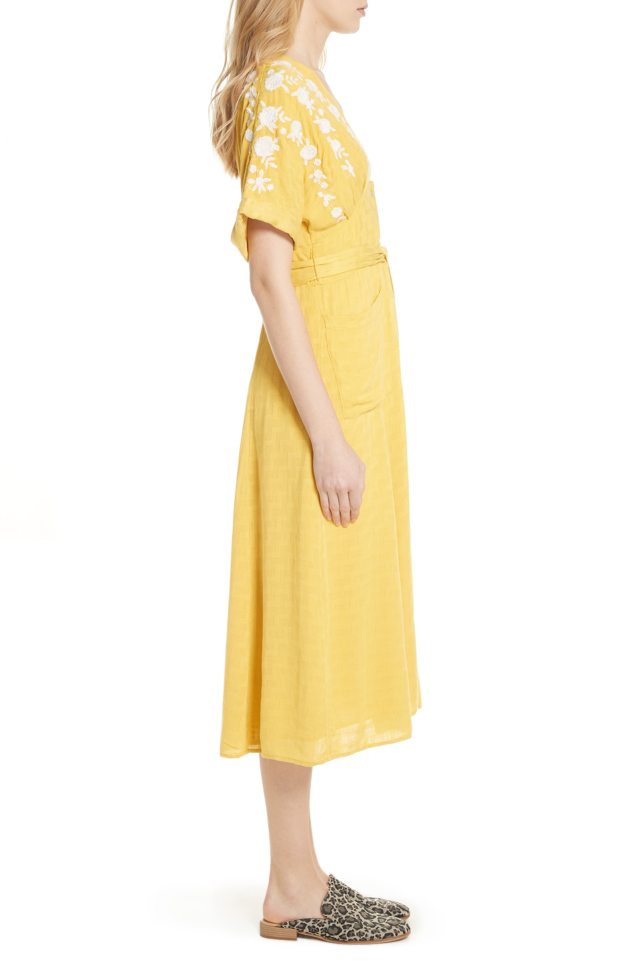 Love to Love You Dress,                             Alternate thumbnail 3, color,                             Yellow