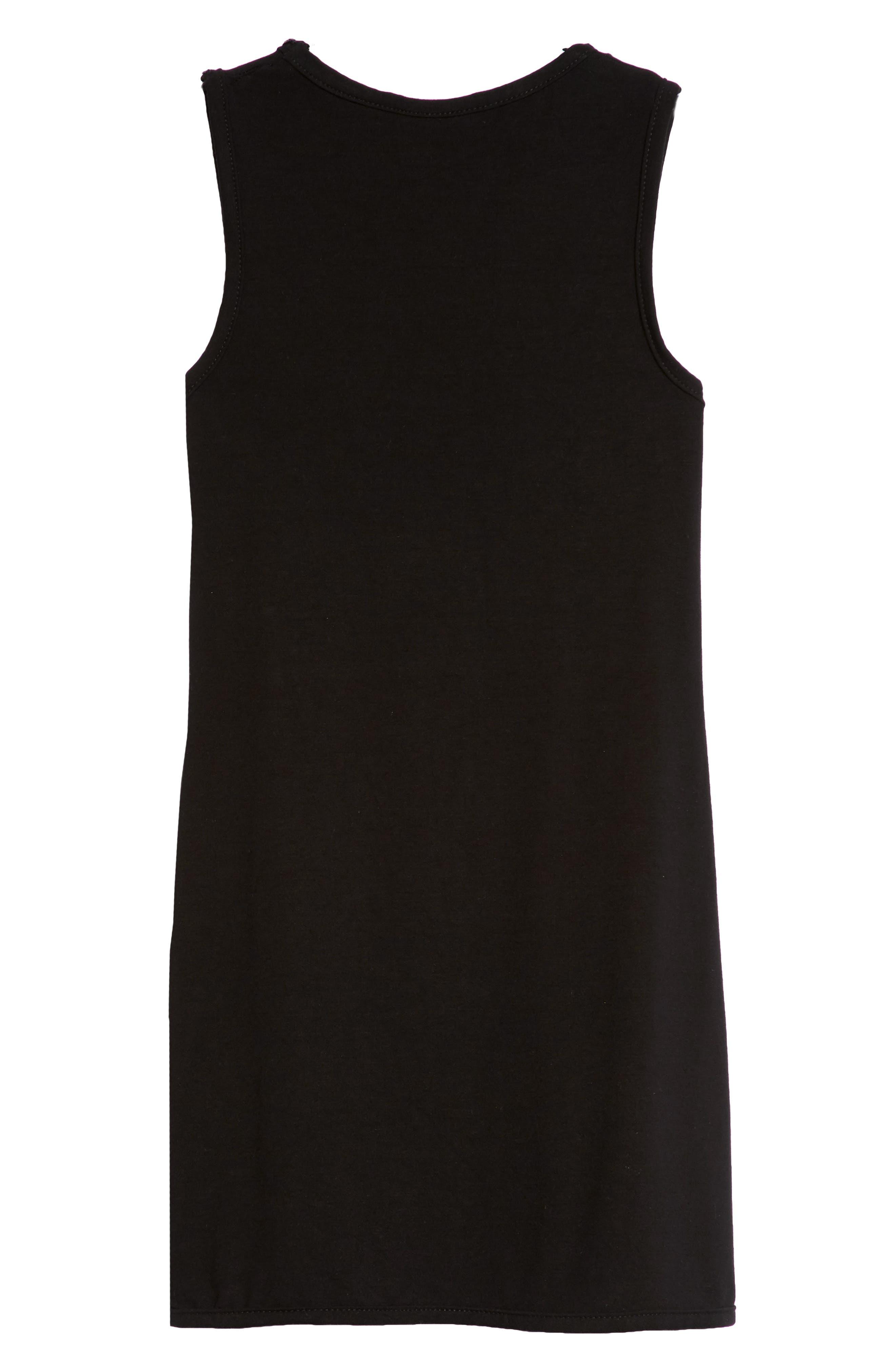 Crystal Studded Tank Dress,                             Alternate thumbnail 2, color,                             Black