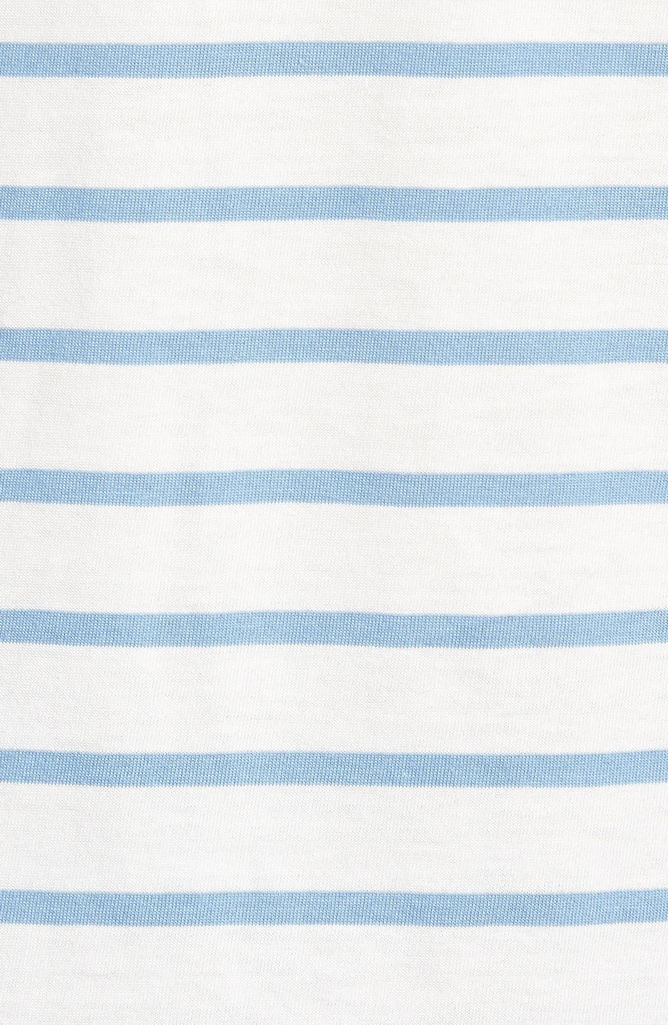 Sunset Pocket T-Shirt,                             Alternate thumbnail 5, color,                             Stripe Marshmallow / Allure