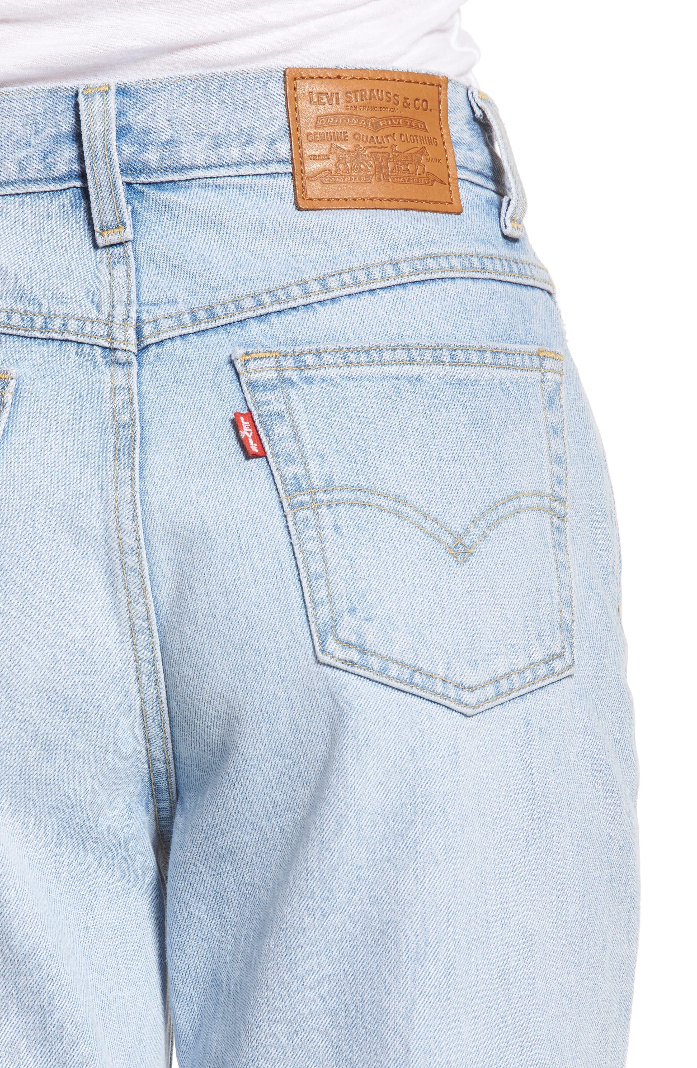 Mom High Waist Jeans,                             Alternate thumbnail 4, color,                             Donna Martin