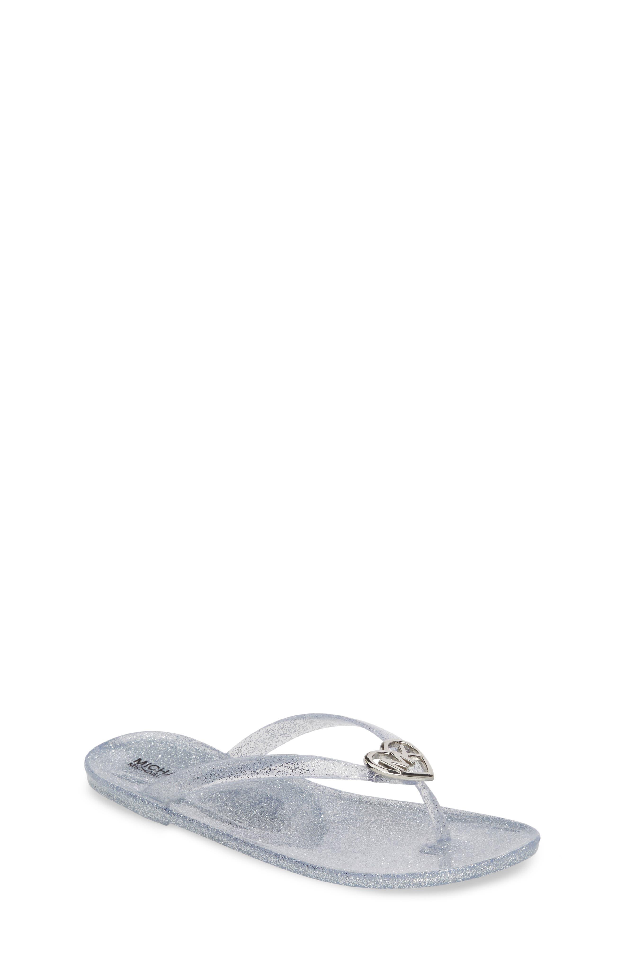 Trish Glare Glitter Flip Flop,                             Main thumbnail 1, color,                             Silver Glitter