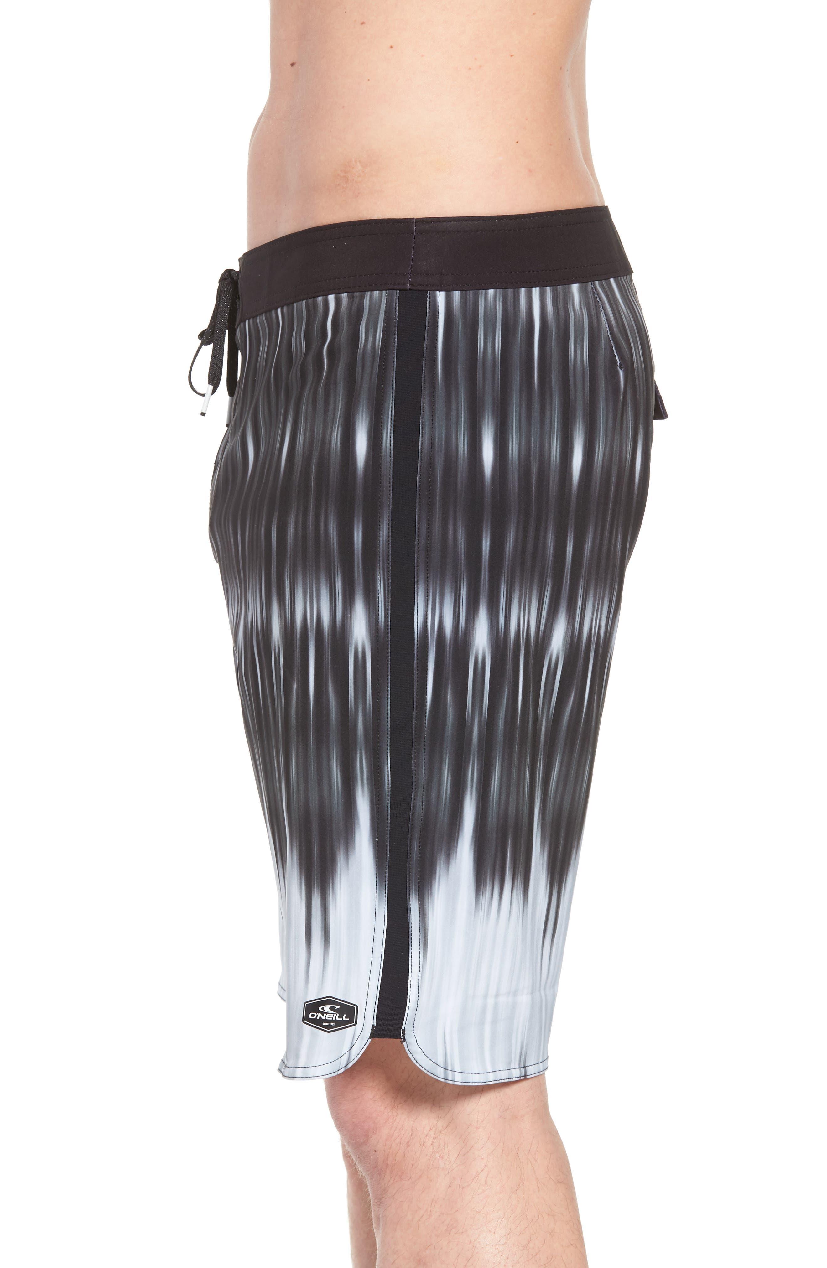Superfreak Dimension Board Shorts,                             Alternate thumbnail 4, color,                             Black