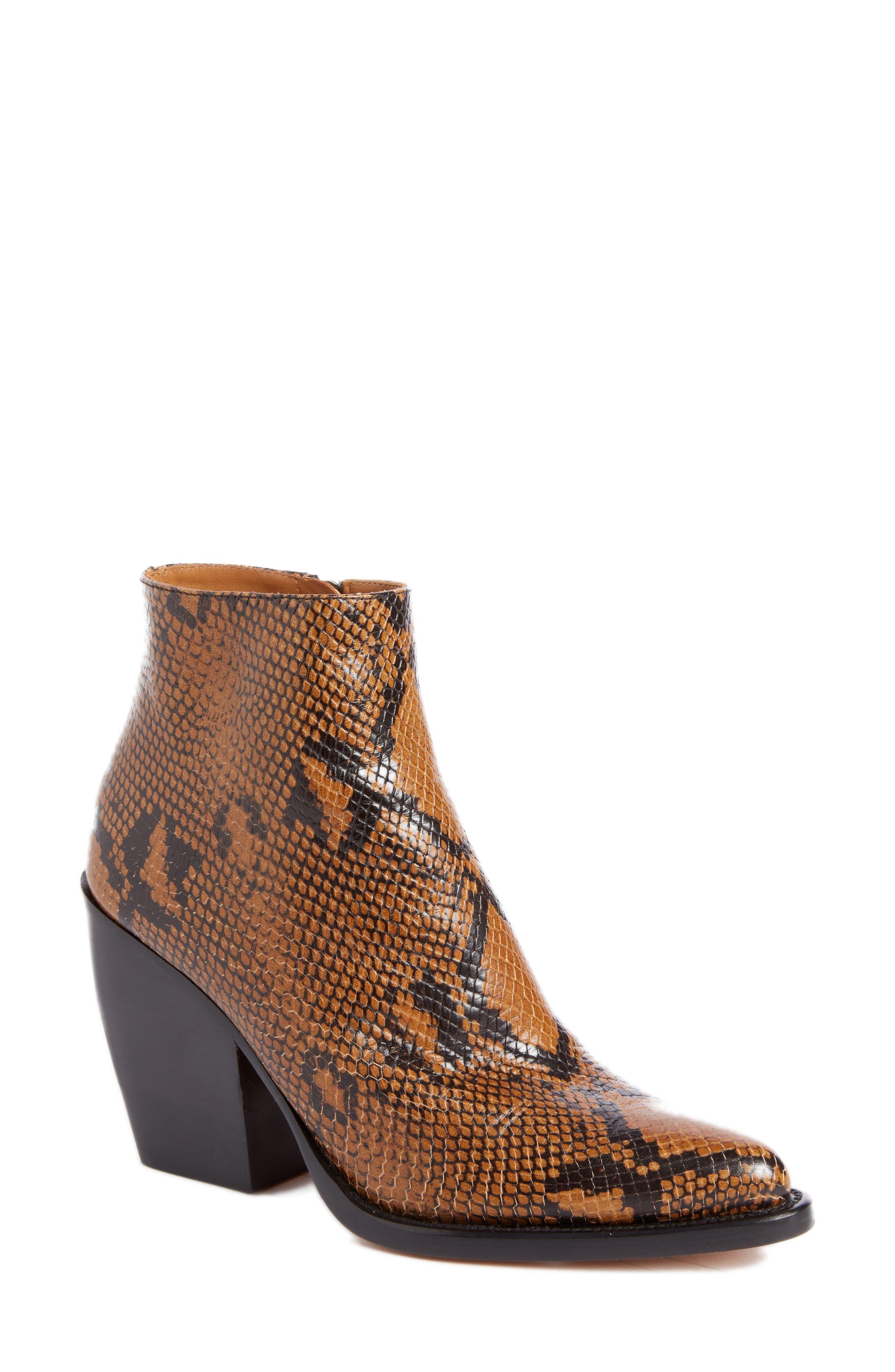Chloé Rylee Block Heel Bootie (Women)