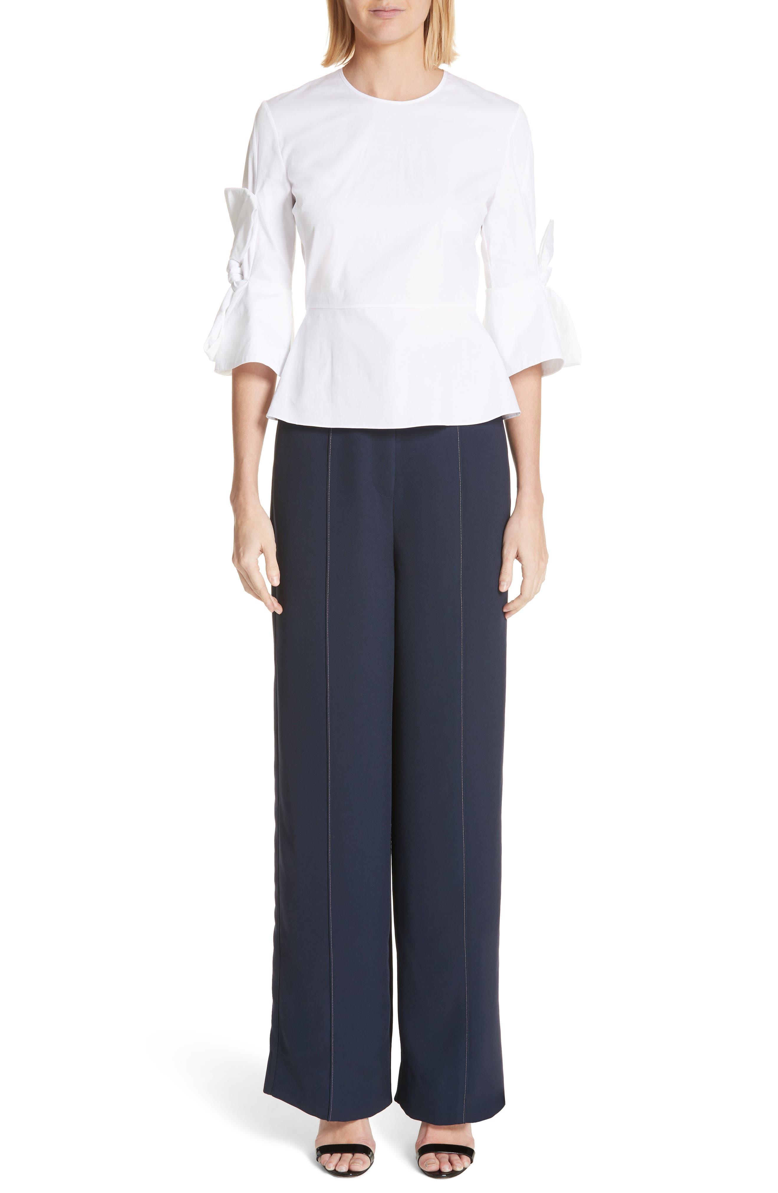 Lapari Pintuck Trousers,                             Alternate thumbnail 7, color,                             Navy