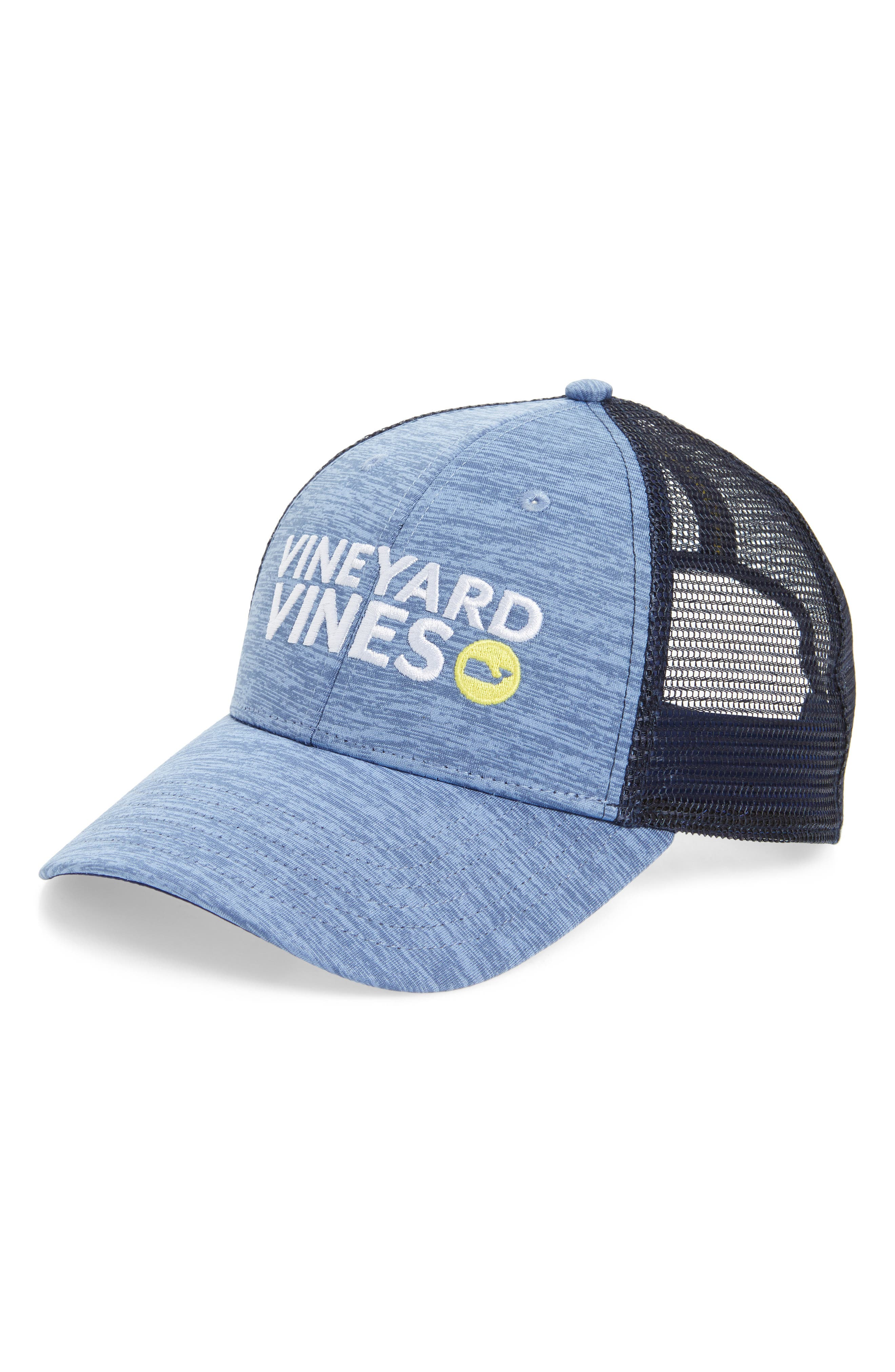 Performance Space Dyed Trucker Hat,                             Main thumbnail 1, color,                             Summer Evening
