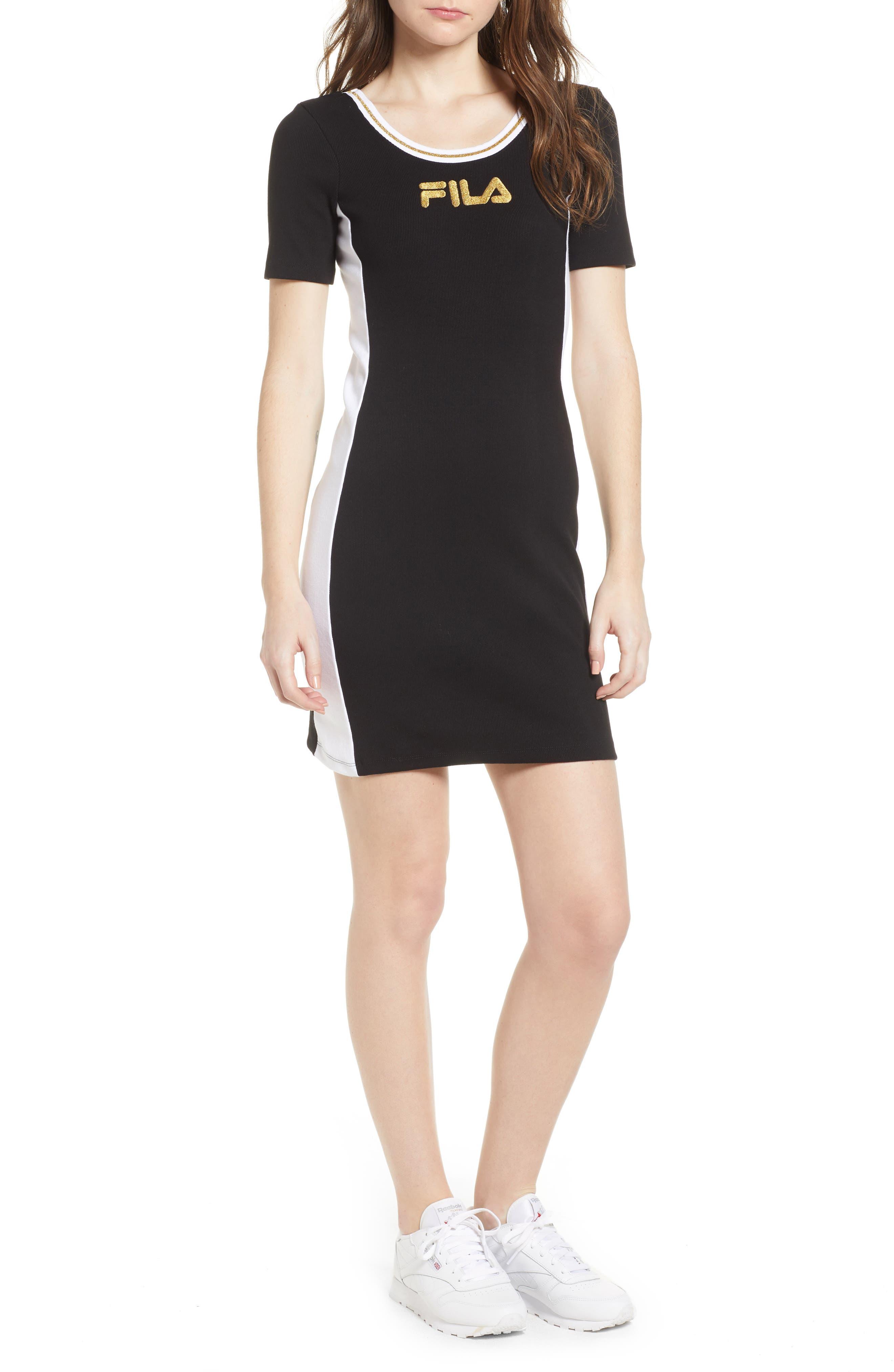 Beth Body-Con Dress,                             Main thumbnail 1, color,                             Black/ White