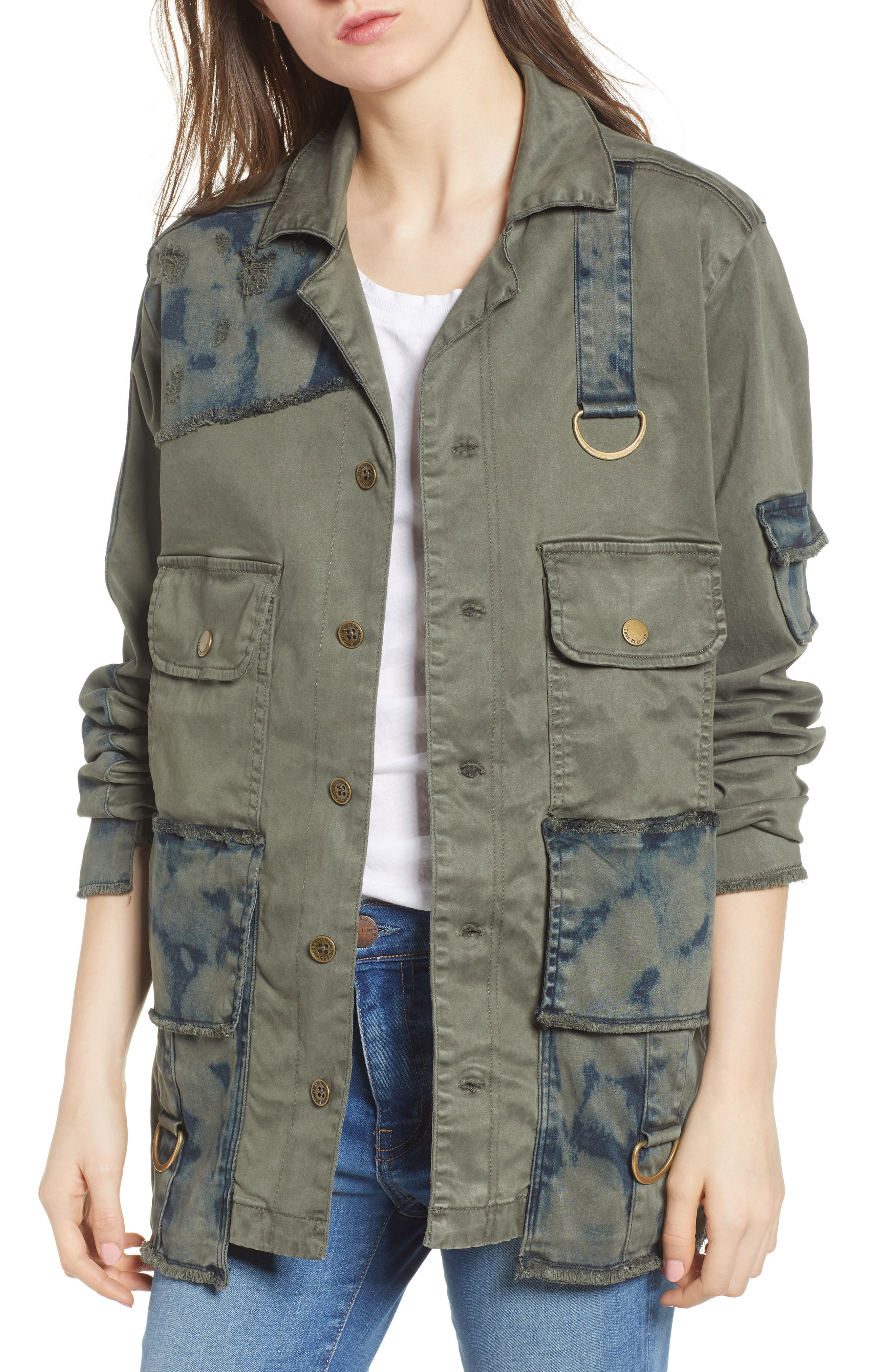 True Religion Brand Jeans Military Jacket