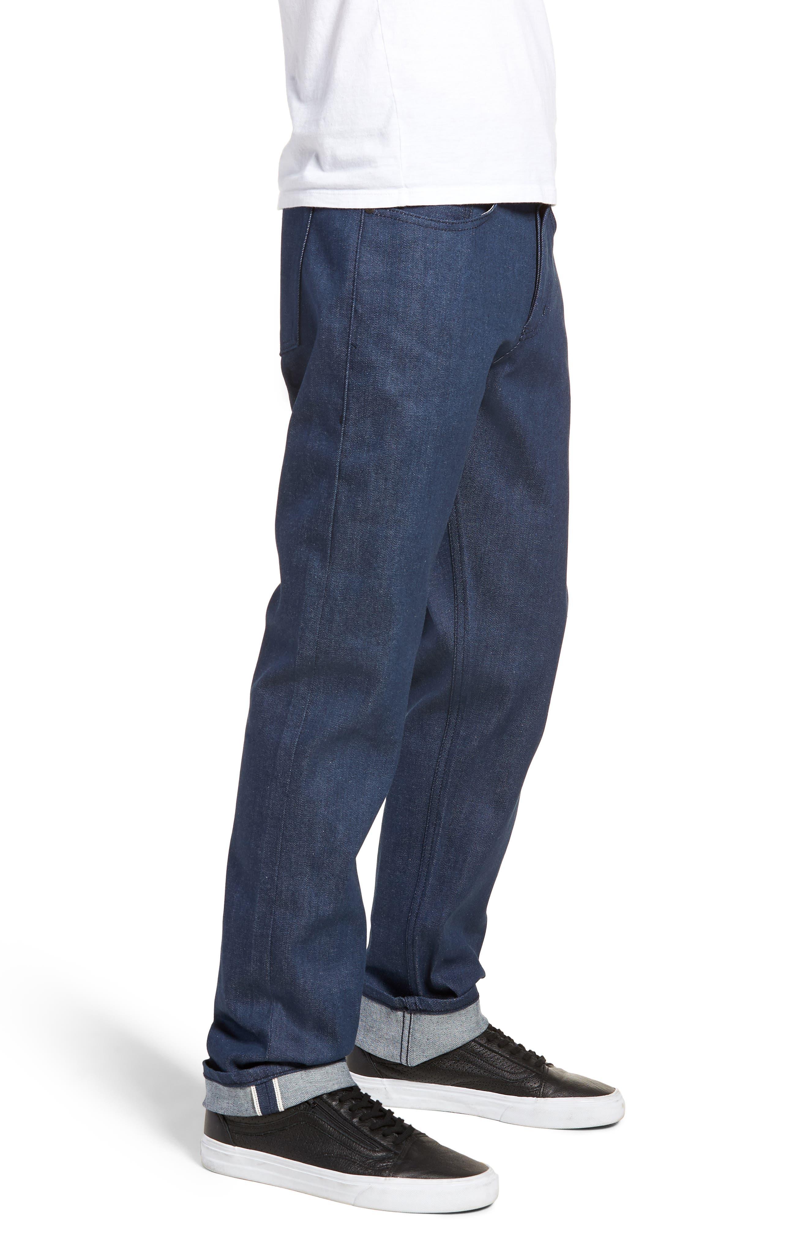 Weird Guy Slim Fit Jeans,                             Alternate thumbnail 3, color,                             Workmans Blue