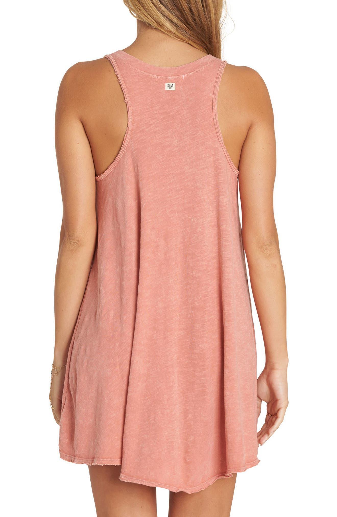 Let Loose Lace-Up Swing Dress,                             Alternate thumbnail 2, color,                             Sunburnt