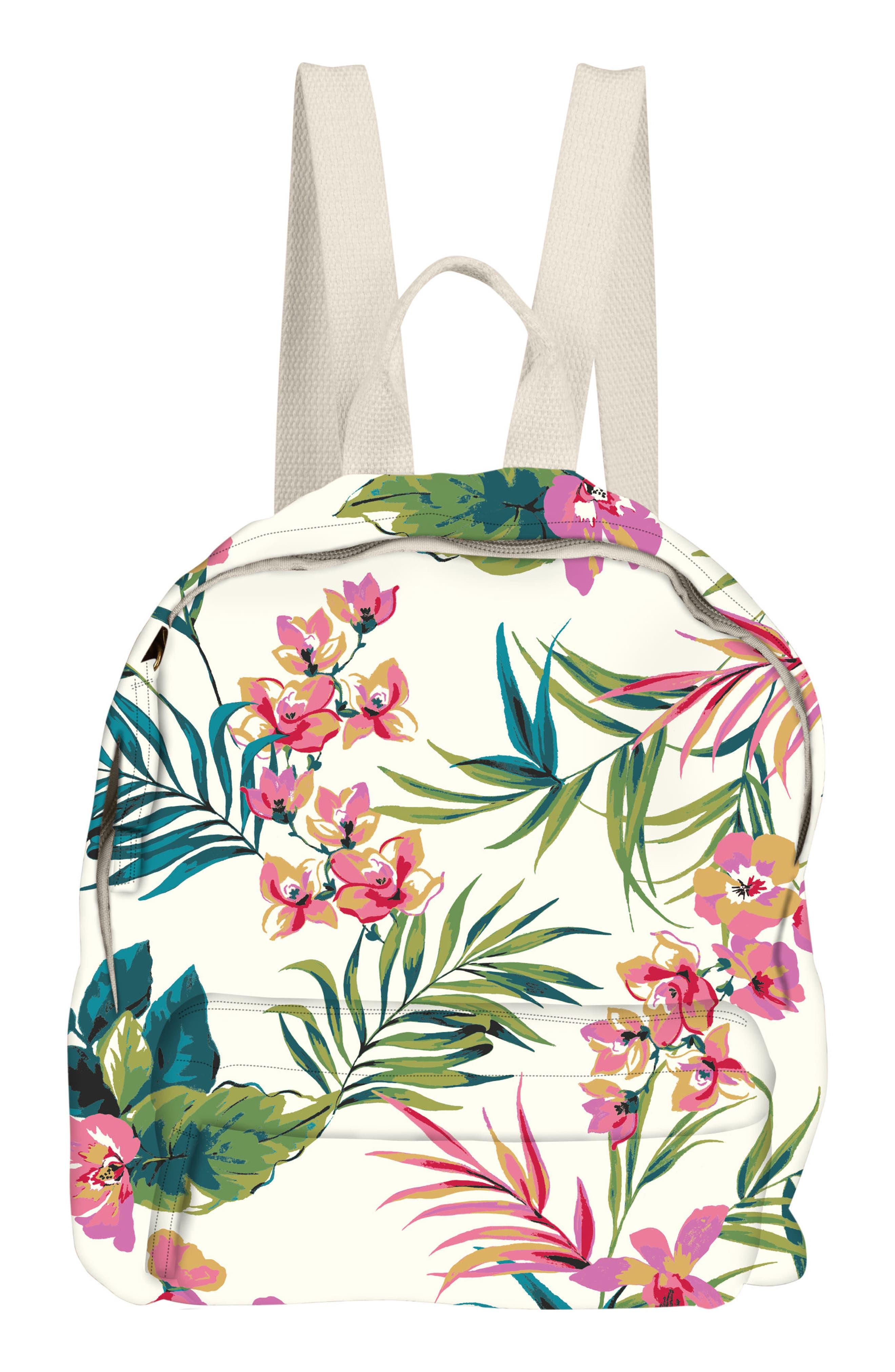 Mini Mama Print Backpack,                             Main thumbnail 1, color,                             Seashell