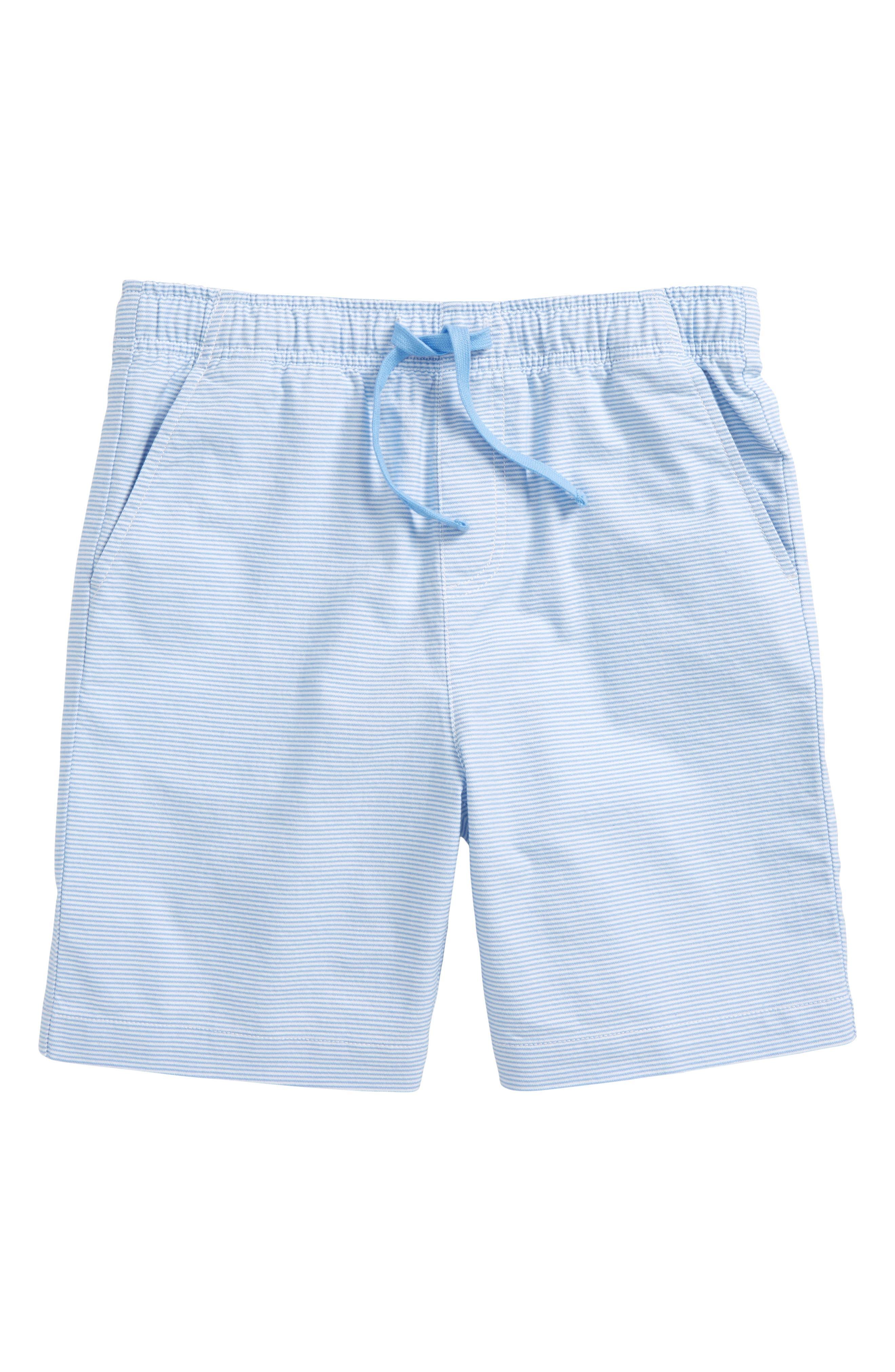 Oxford Stripe Jetty Shorts,                         Main,                         color, Ocean Breeze